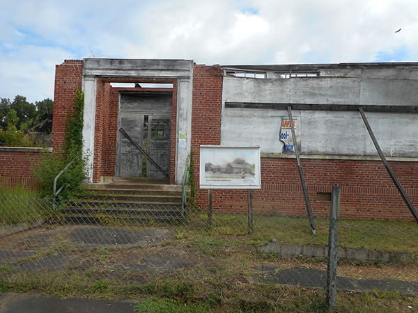Remains of Greensville County Training School in Emporia, Virginia.