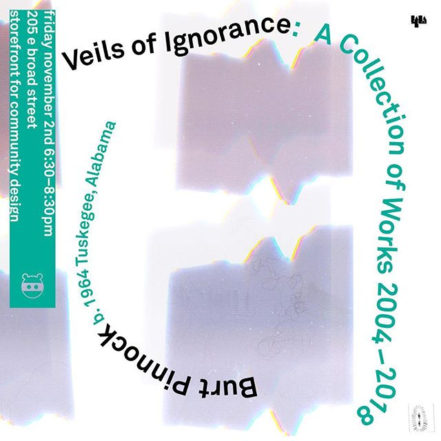 Veils of Ignorance: A Collection of Works 2004 - 2018, Burt Pinnock opens this friday november 2 from 6:30 to 8:30 205 e broad street @storefrontrva + @middleofbroadstudio  Burt Pinnock is an architect in Richmond whose work evokes the sentiment of the dropped veil while simultaneously exploring the possibilities that arise when that veil is ultimately lifted. Collectively, they strive, as Booker T. Washington did, to educate and reveal truths about our history and who we are in an effort to get us to John Rawl's vision of designing a more equitable society.