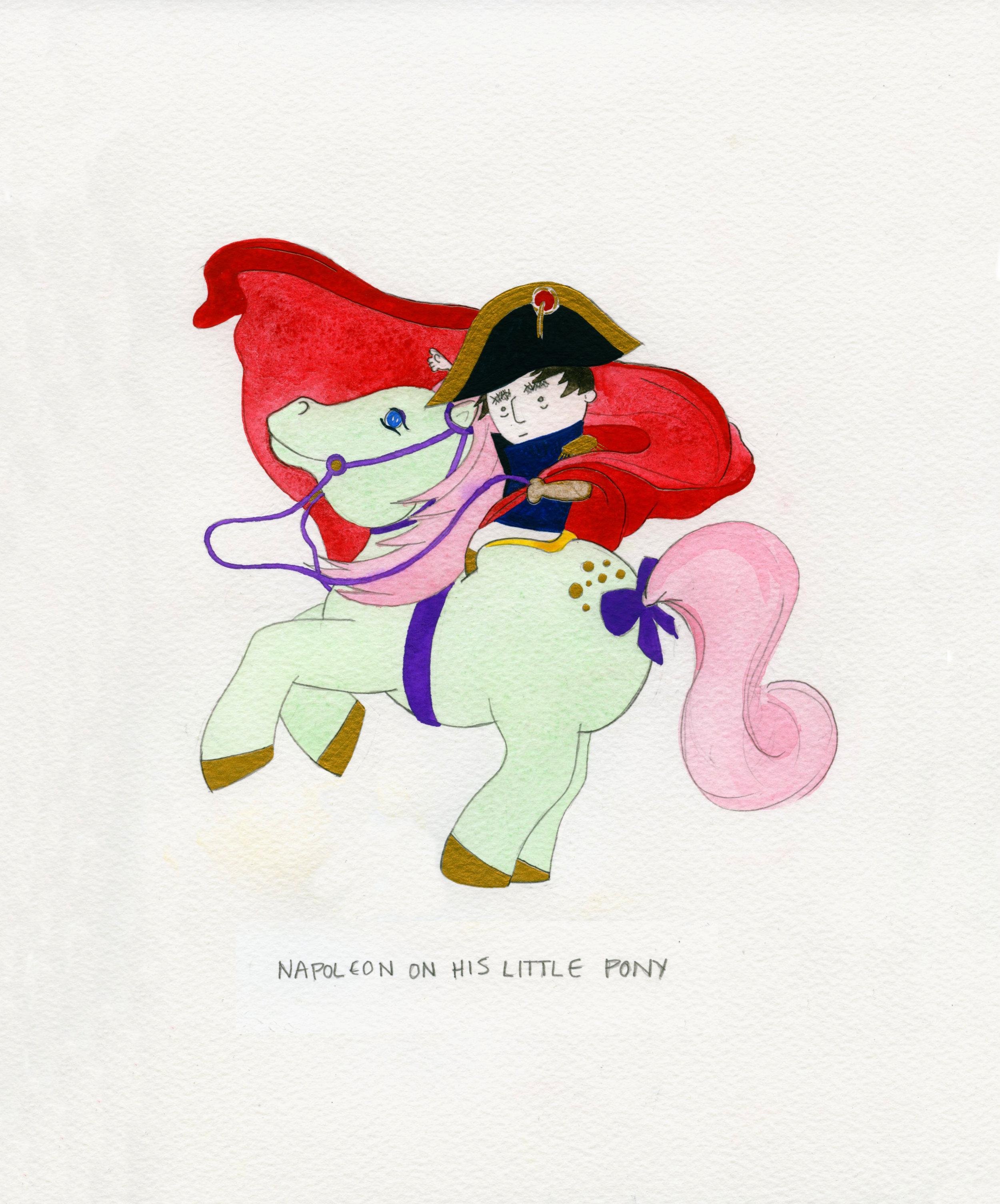 Napoleon on His Little Pony