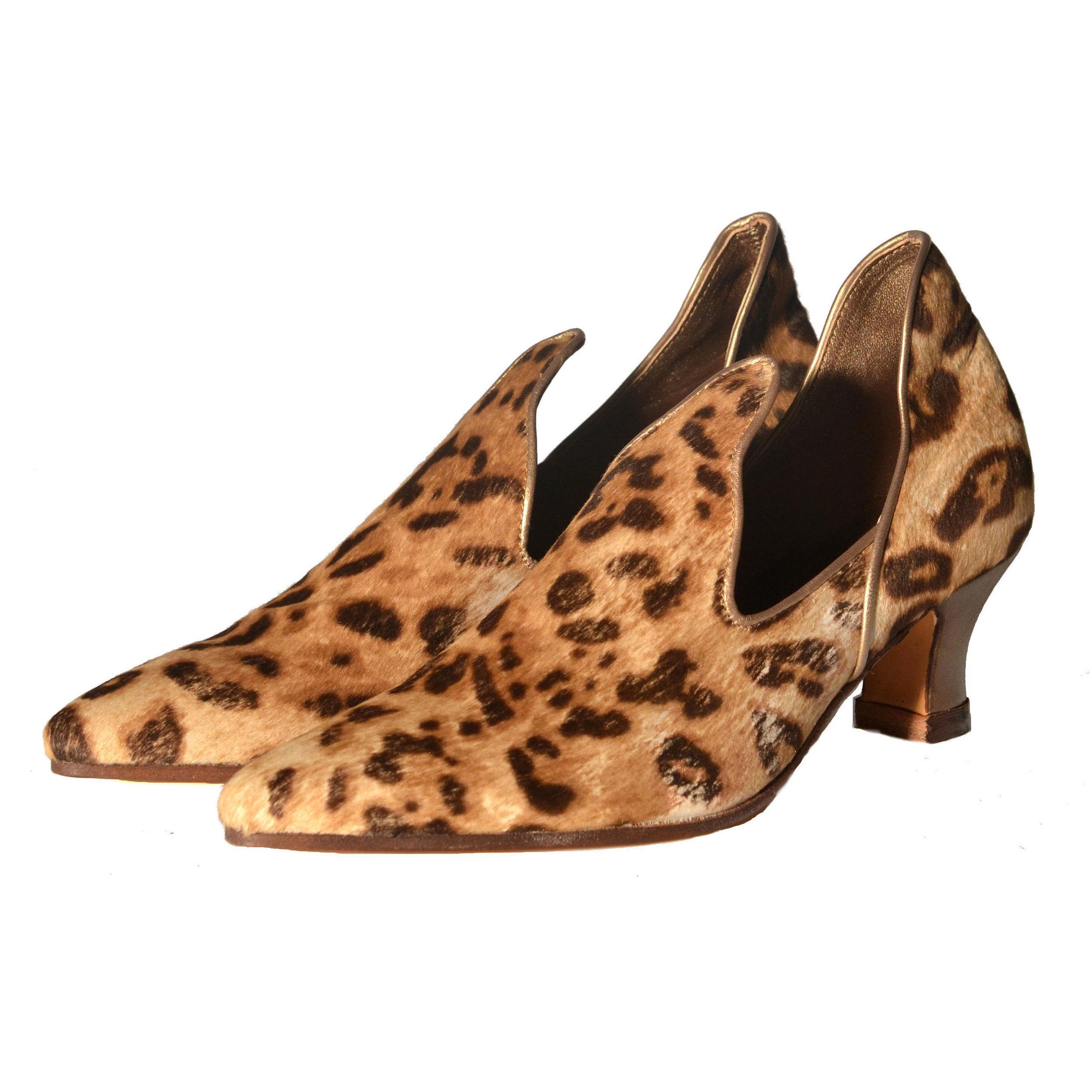 leopard skin mules