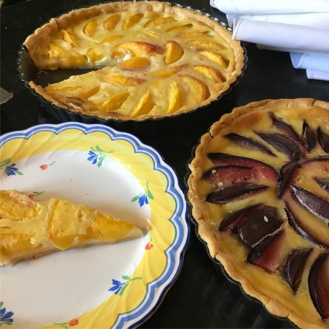 Native Peach and Plum tarts. Summer is here! #chefsalorange #patonpeaches