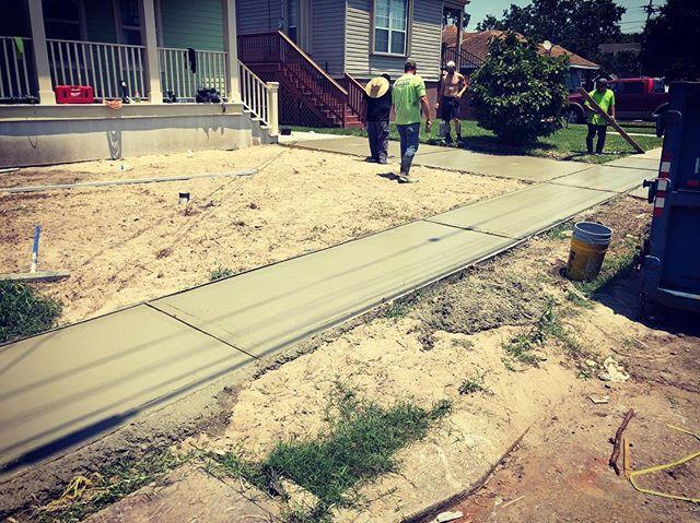 Concrete days.  #GCGC #workeveryday #paving #stayoutside #isitsummertimealready