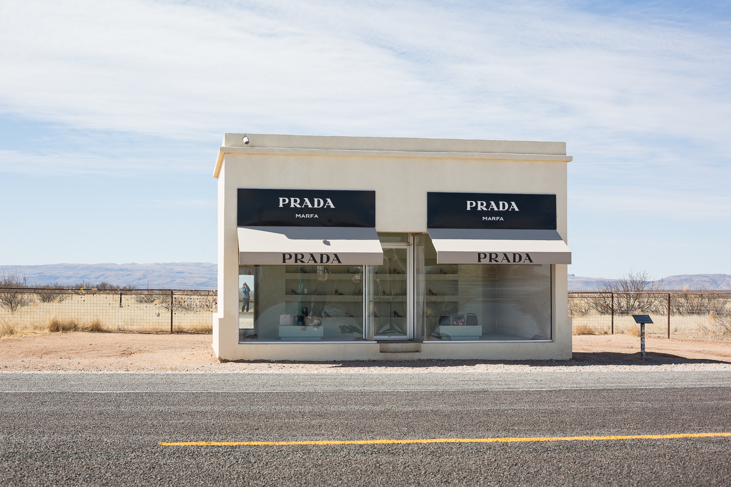 Yes, I went to Marfa. See I'm there in the window. • Marfa, TX