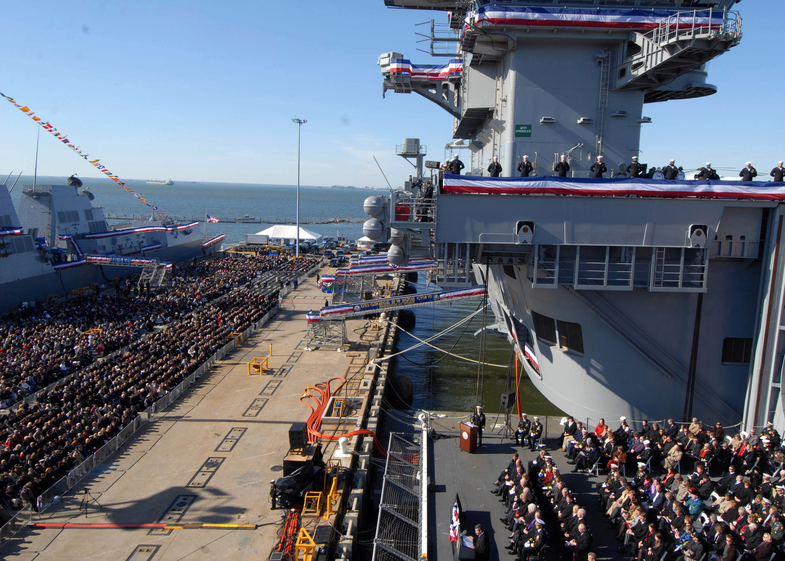 Wikimedia Commons Commissioning Ceremony USS George H.W. Bush (CVN 77)