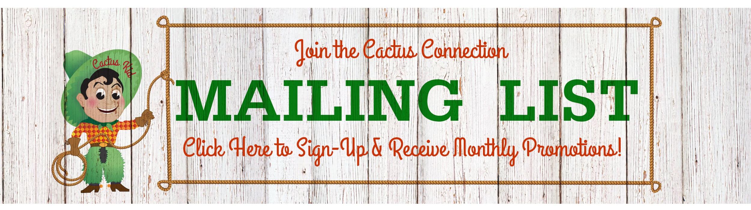 Mailing List: Cactus Connection