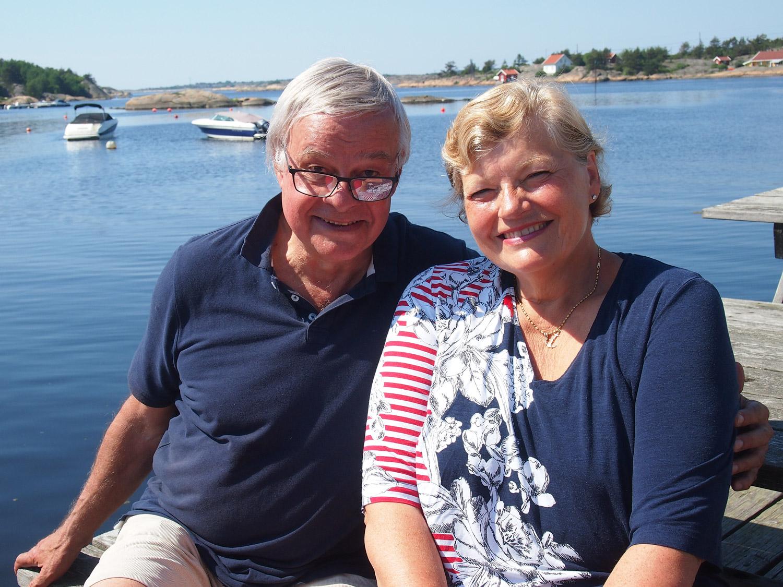 Ingerid Bjercke og John L. Jones. Foto: Ingrid Østang Aarrestad / Visit Hvaler