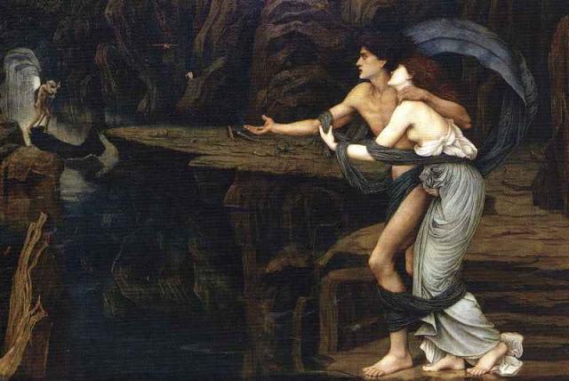 John Roddam Spencer Stanhope - Orpheus and Eurydice on the Banks of the Styx.jpg