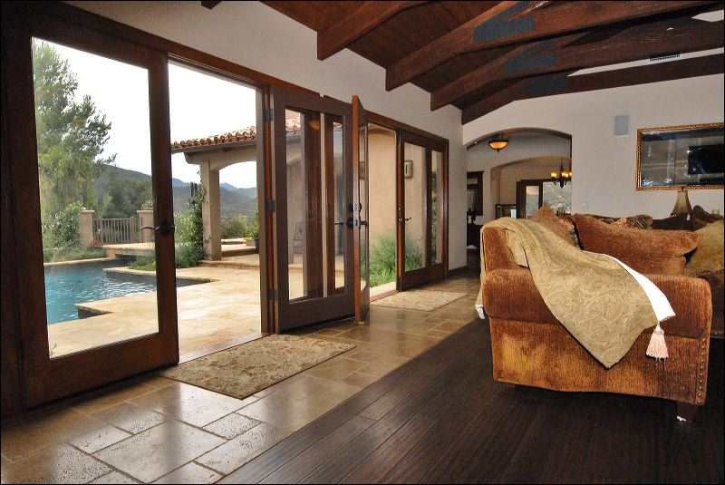 stone floors and wood