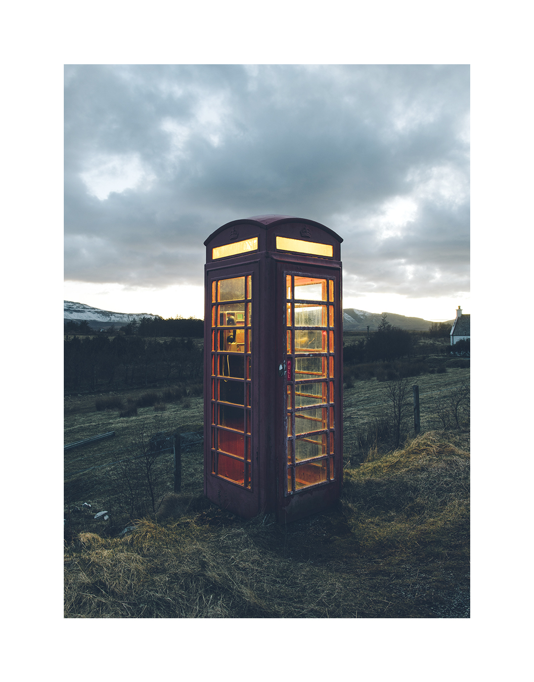 Phone booth, Isle of Skye, Scotland