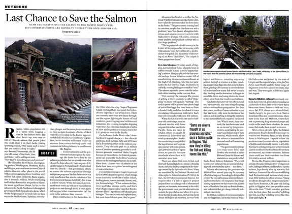 The April 2012 issue of Men's Journal magazine features Idaho salmon.