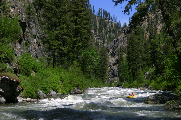 The North Fork of the Boise River has the exciting combination of great whitewater in an outstanding wilderness setting. (photo by Greg Stahl)