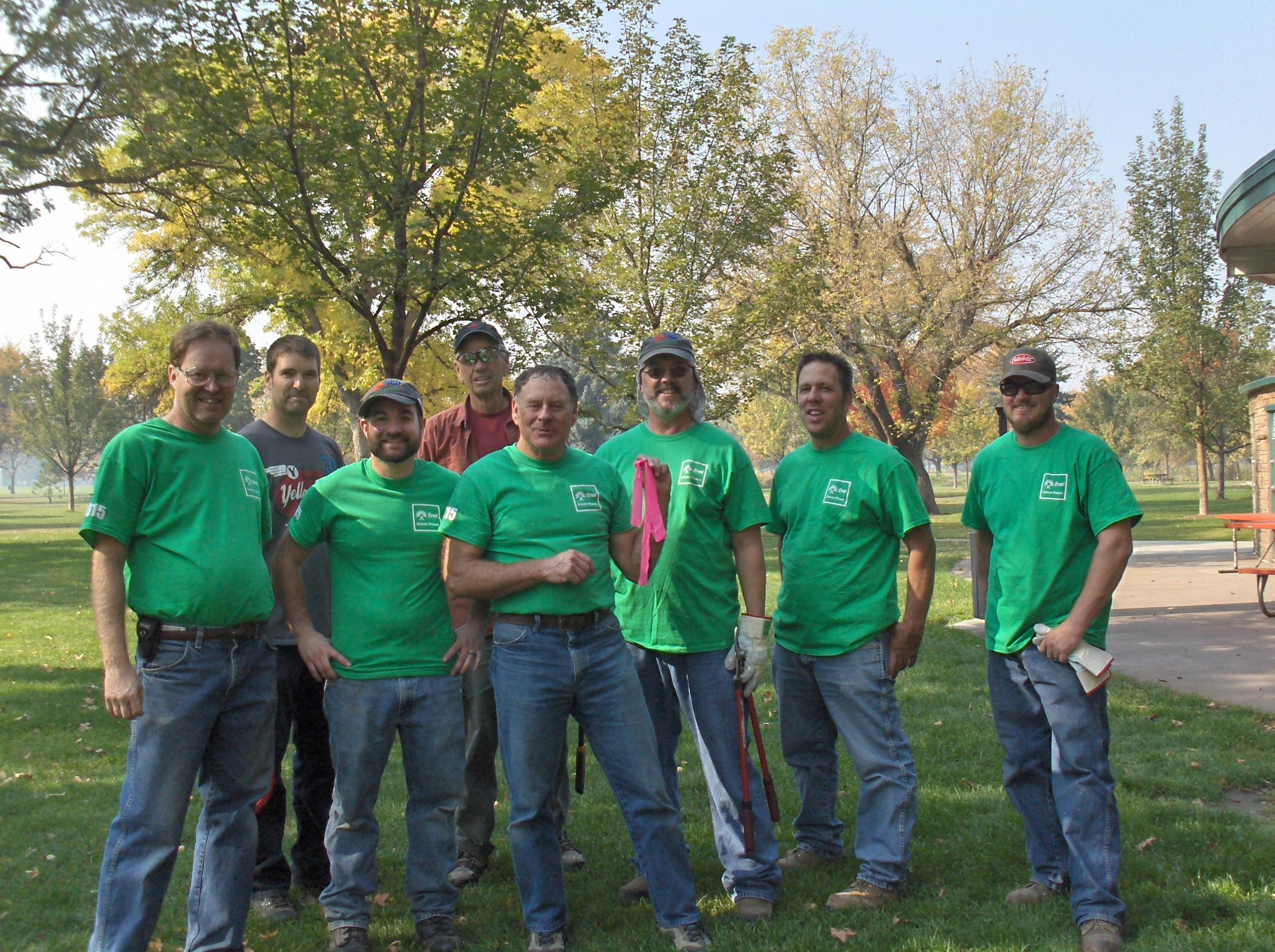 ENEL Green Power and IRU volunteers 2015