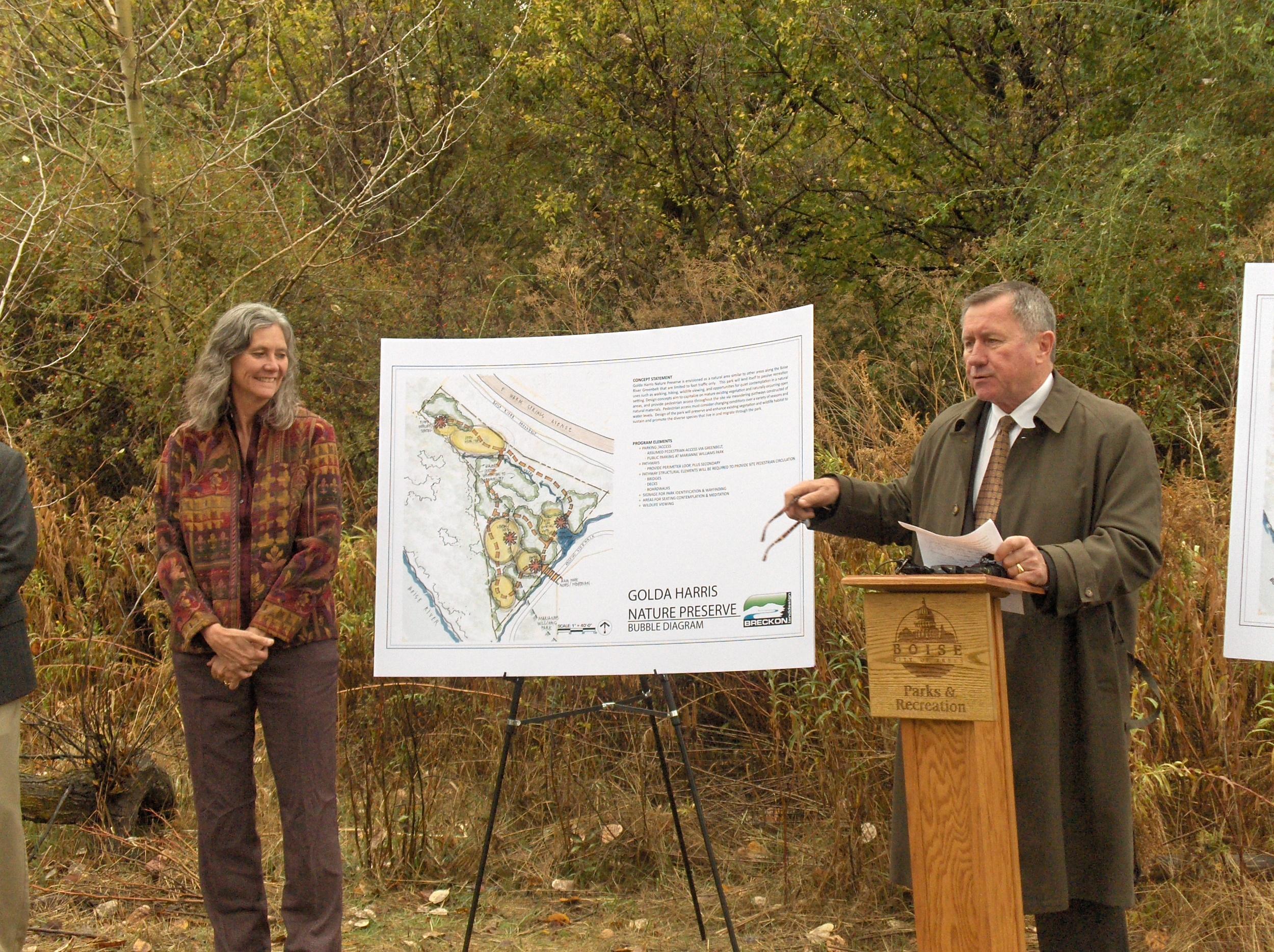 Elaine Clegg, Boise City Council and Doug Fowler, Harris Ranch