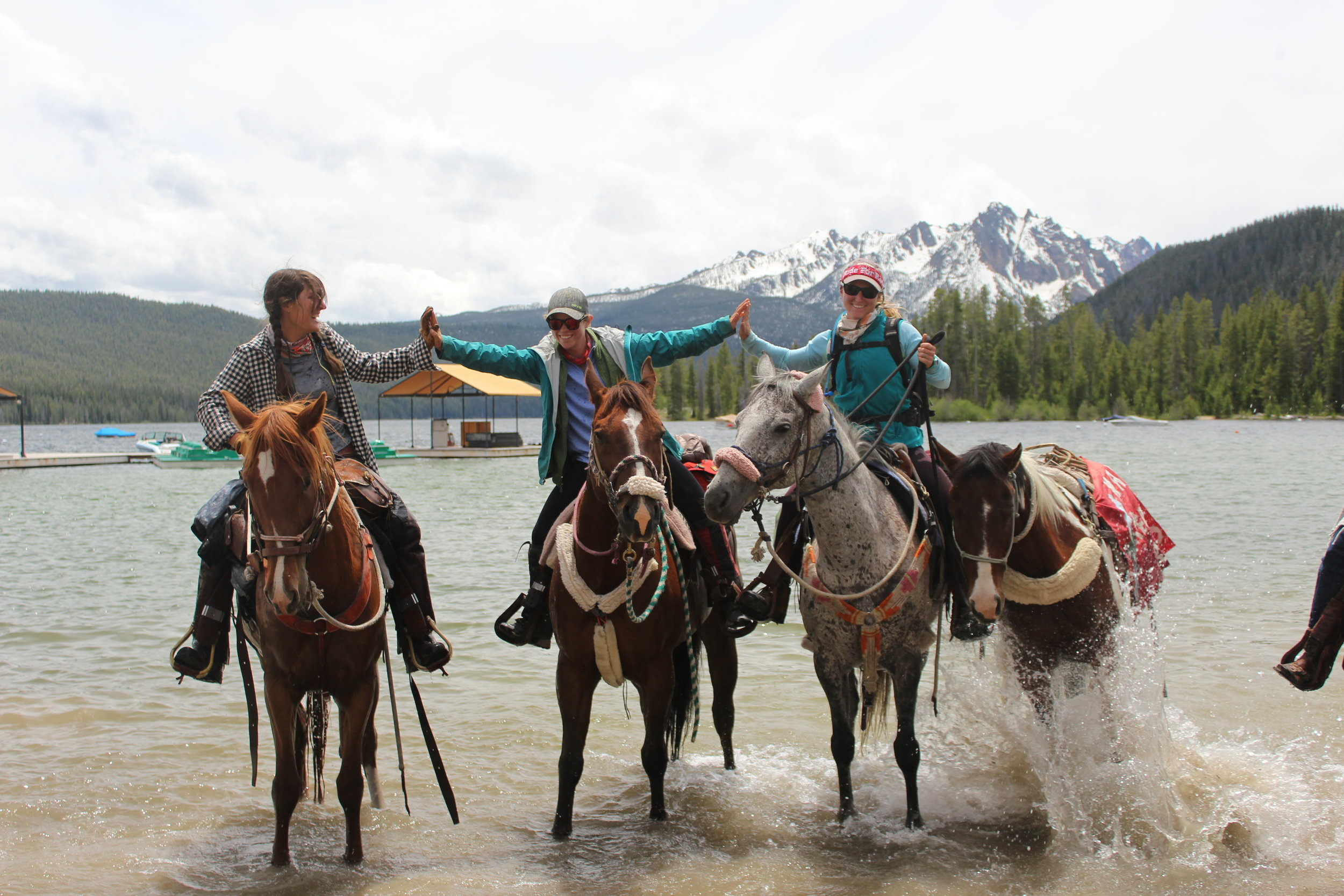 21- Horses in Lake ladies holding hands 2.JPG