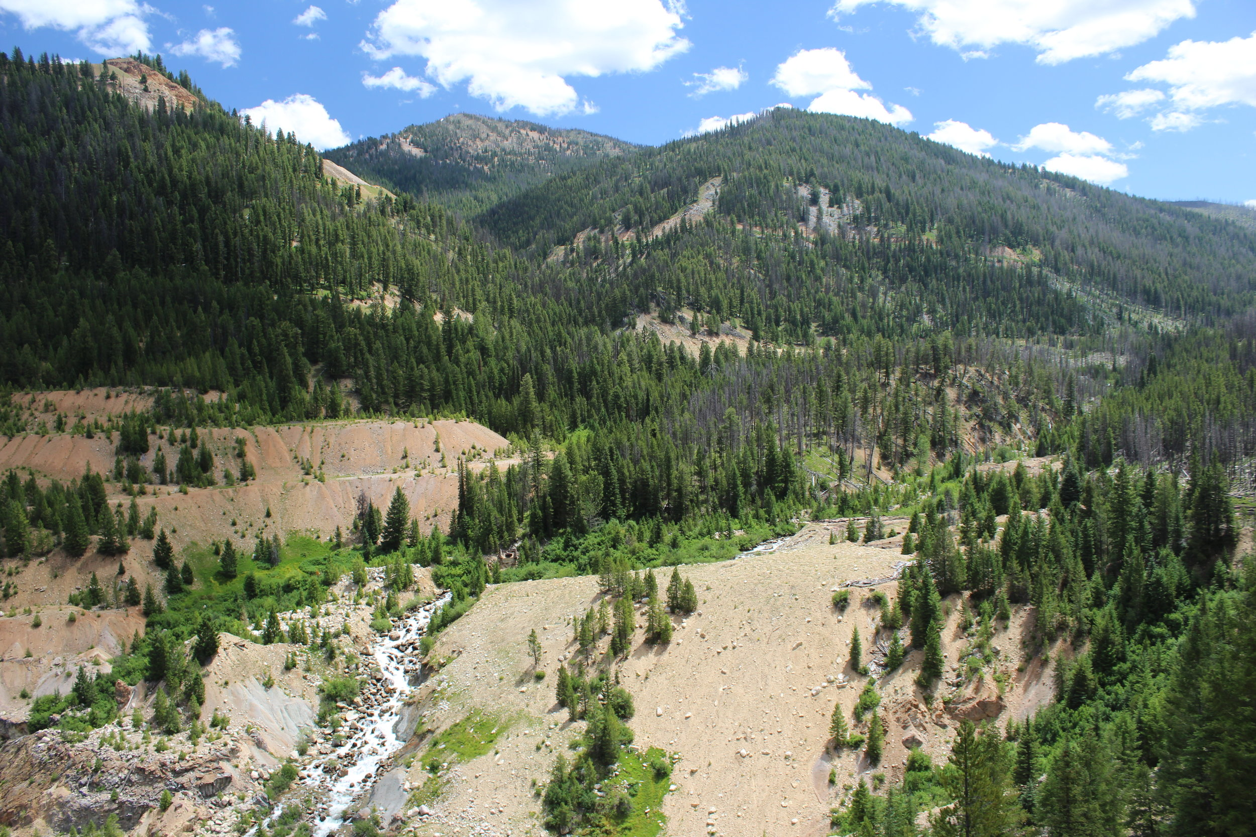 Mountains around Yellow Pine Pit