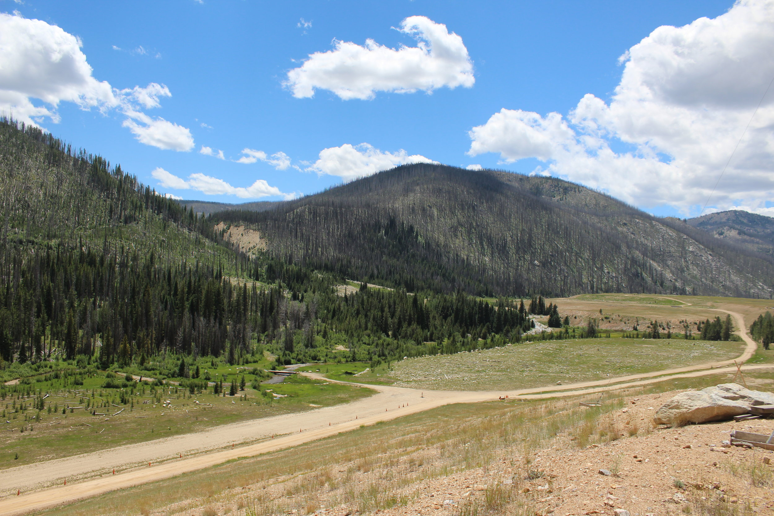 A contrast of restoration and what mining operations leave behind
