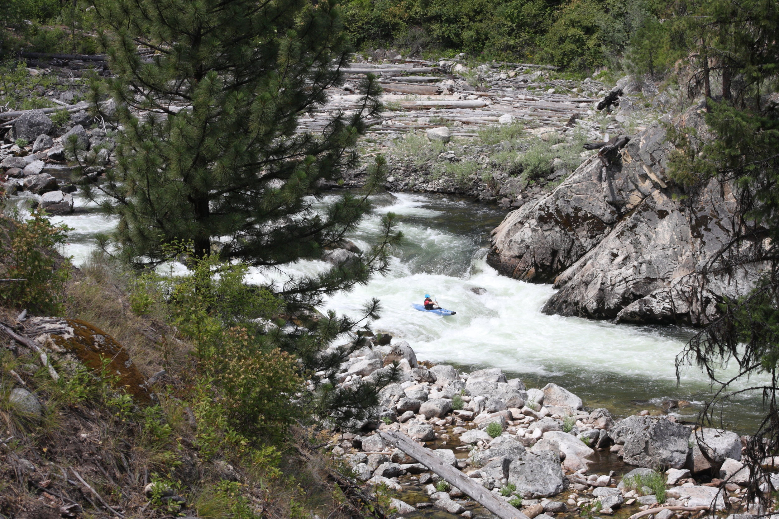 Remote, secluded boating and paddling on the South Fork of the Salmon River
