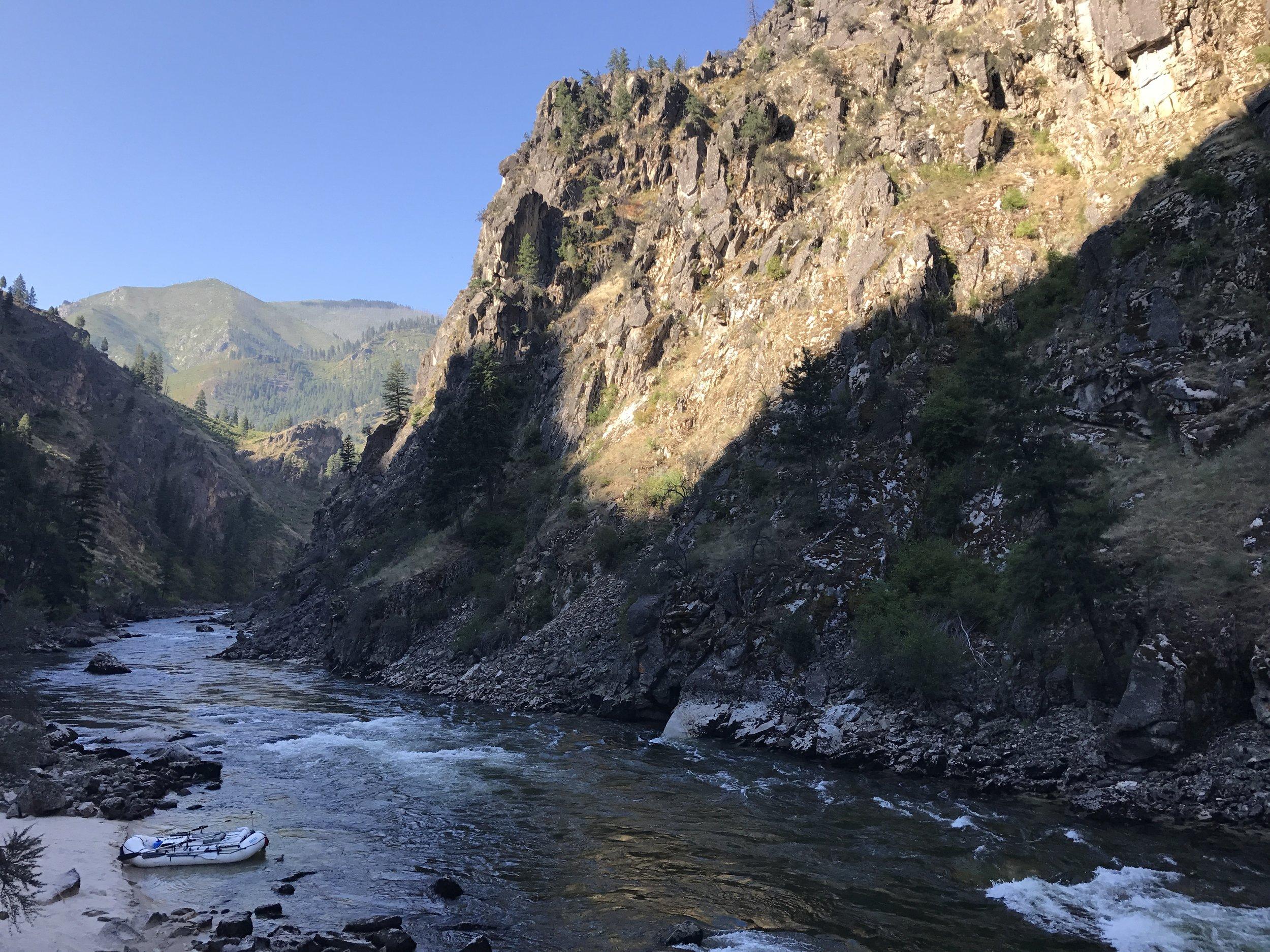 Remote South Fork Salmon River canyon  @Nate Ostis