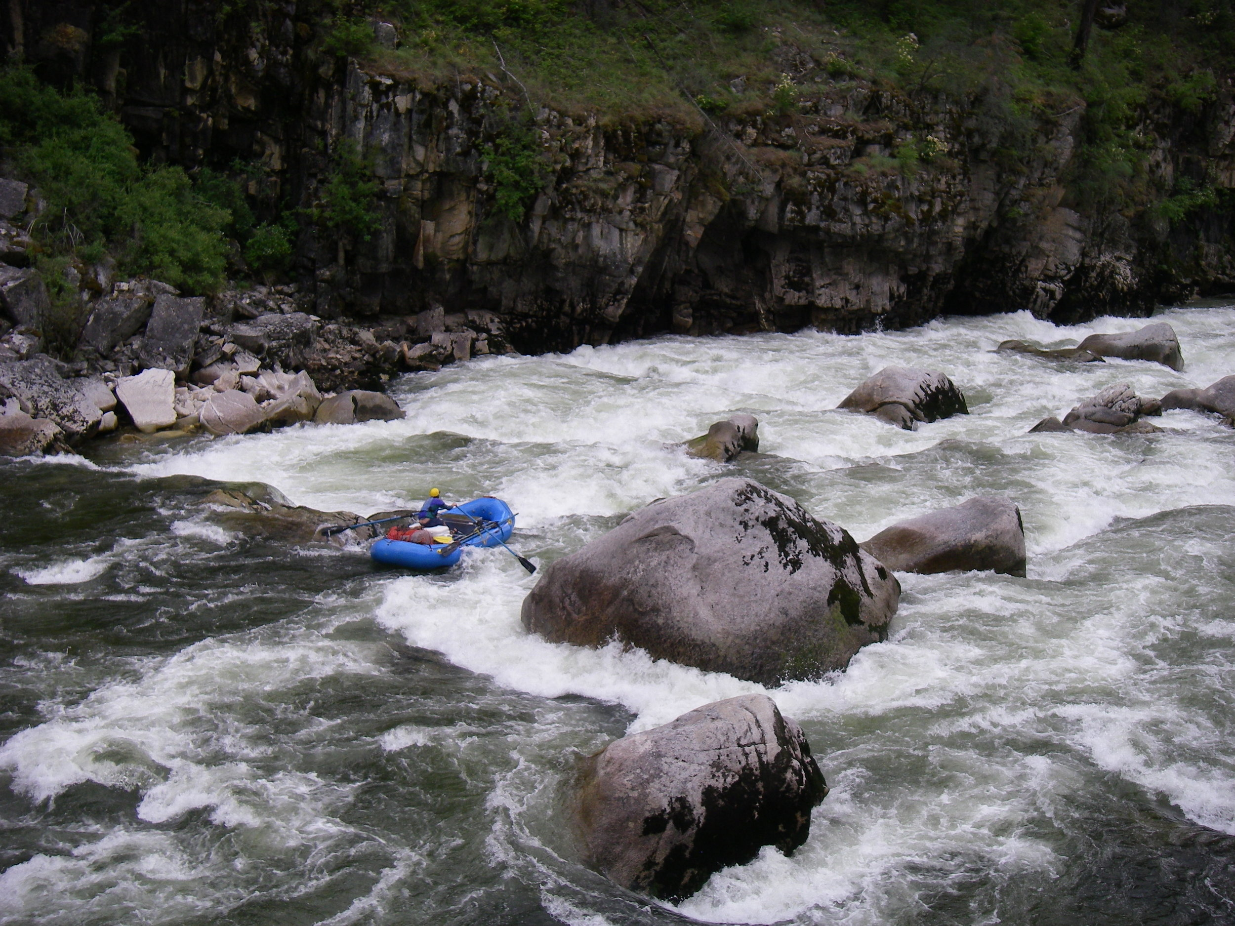 Fall Creek Rapid on the South Fork of the Salmon River, one of the river's outstanding Class V rapids. Photo by Scott Acker.