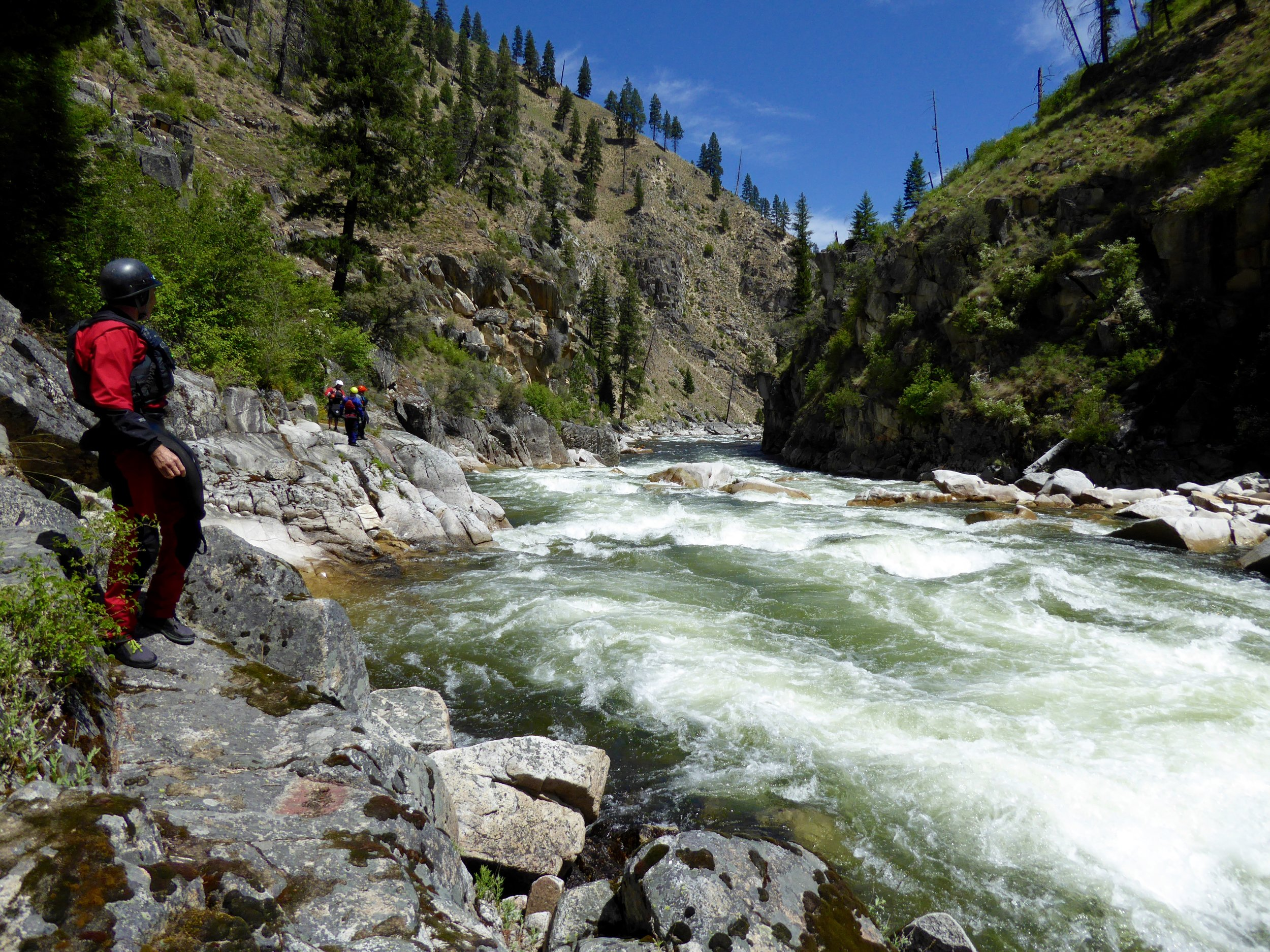 Scouting on the South Fork of the Salmon. Photo by Nick Hinds.