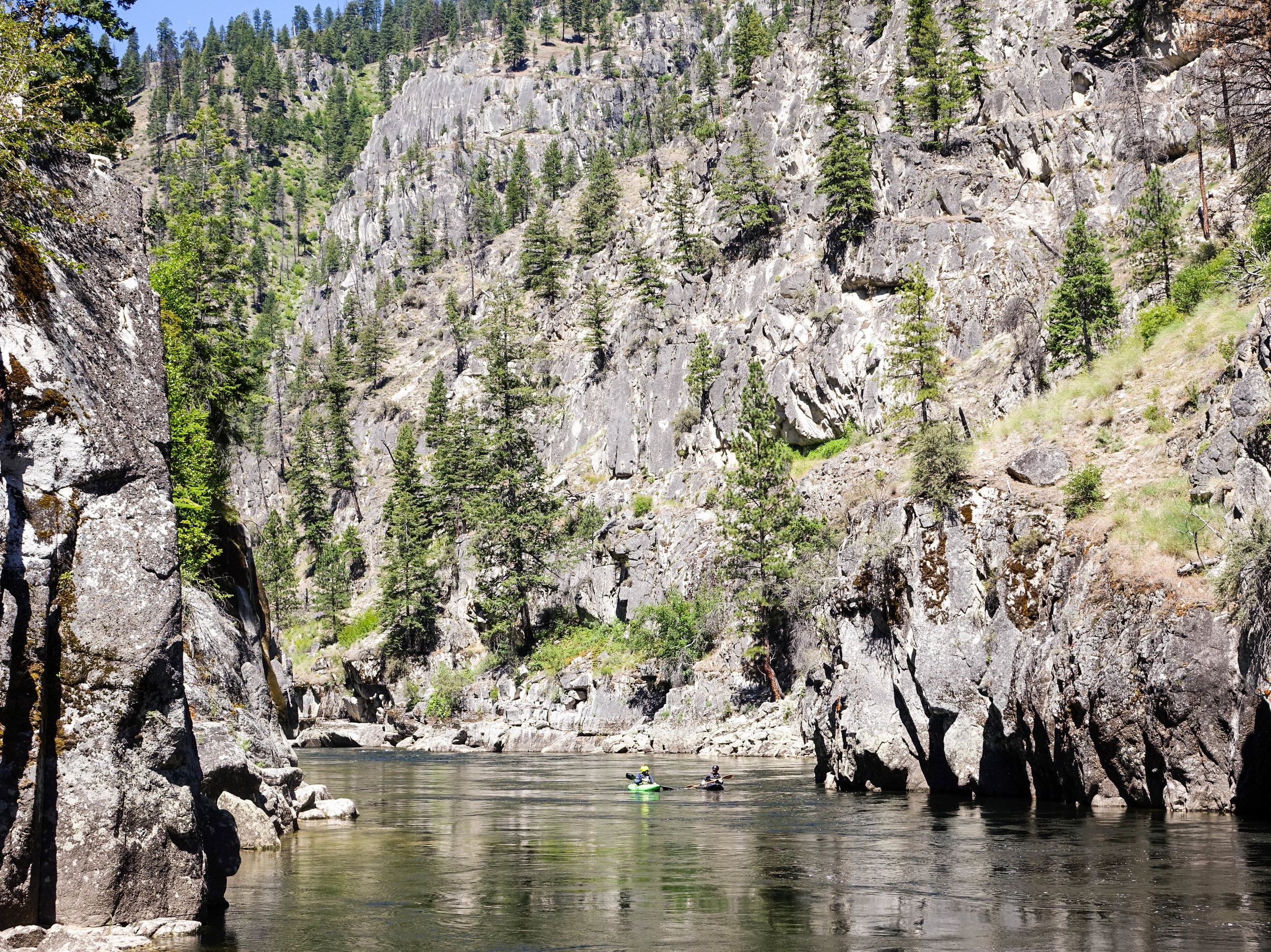"""- """"I had done several Main Salmon runs while growing up and had always floated by the south fork with wonder. The Main Salmon guides had told me that the South Fork was substantially more difficult and was big with the kayakers. I had to know what was up that valley. Where had that water come from? What had it been through? My wonder and imagination went wild. Years passed before I returned to the Idaho area … The river was truly magnificent. Something about being in that majestic river valley with nothing but my kayak and gear made for some of the best summer days of my life.""""-Colby Bishop, Seattle, Wash."""