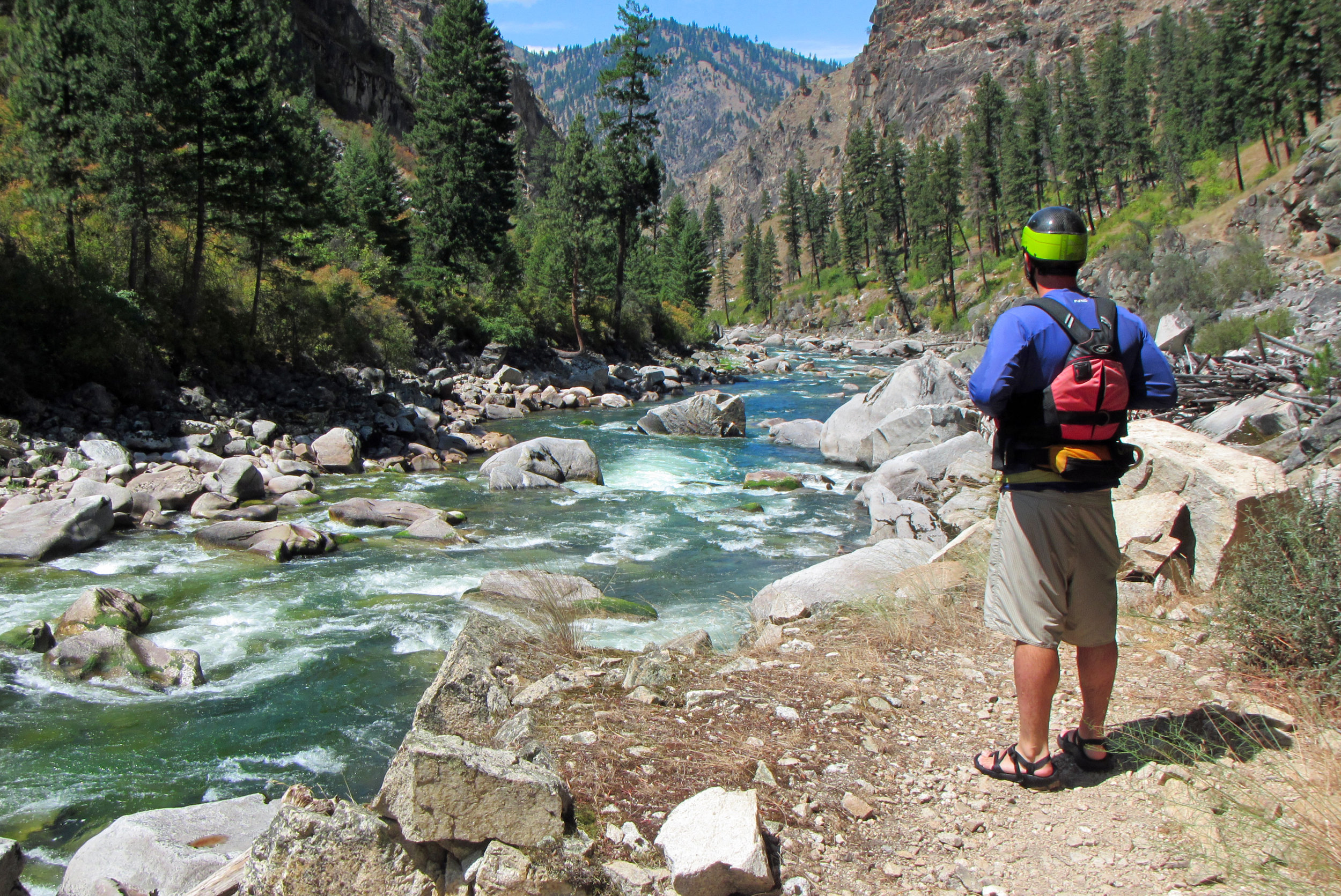 """""""The South Fork is pure, intimate, utterly enchanting. Her emerald waters sparkle in the Idaho sun like a perfectly cut gem, so that even in a state brimming with gorgeous rivers, the South Fork dazzles the eye. The wilderness setting is exquisite: a rugged granite canyon lightly cloaked in open, sun-filled forest. Across this ancient backdrop the South Fork winds and dances with such youthful exuberance and unblemished clarity that, much as you want to stop and drink in her beauty, you can't resist joining in. How could we help falling in love? We're counting the days until we can see the South Fork again.""""   -Bill Cross, Ashland, Ore."""
