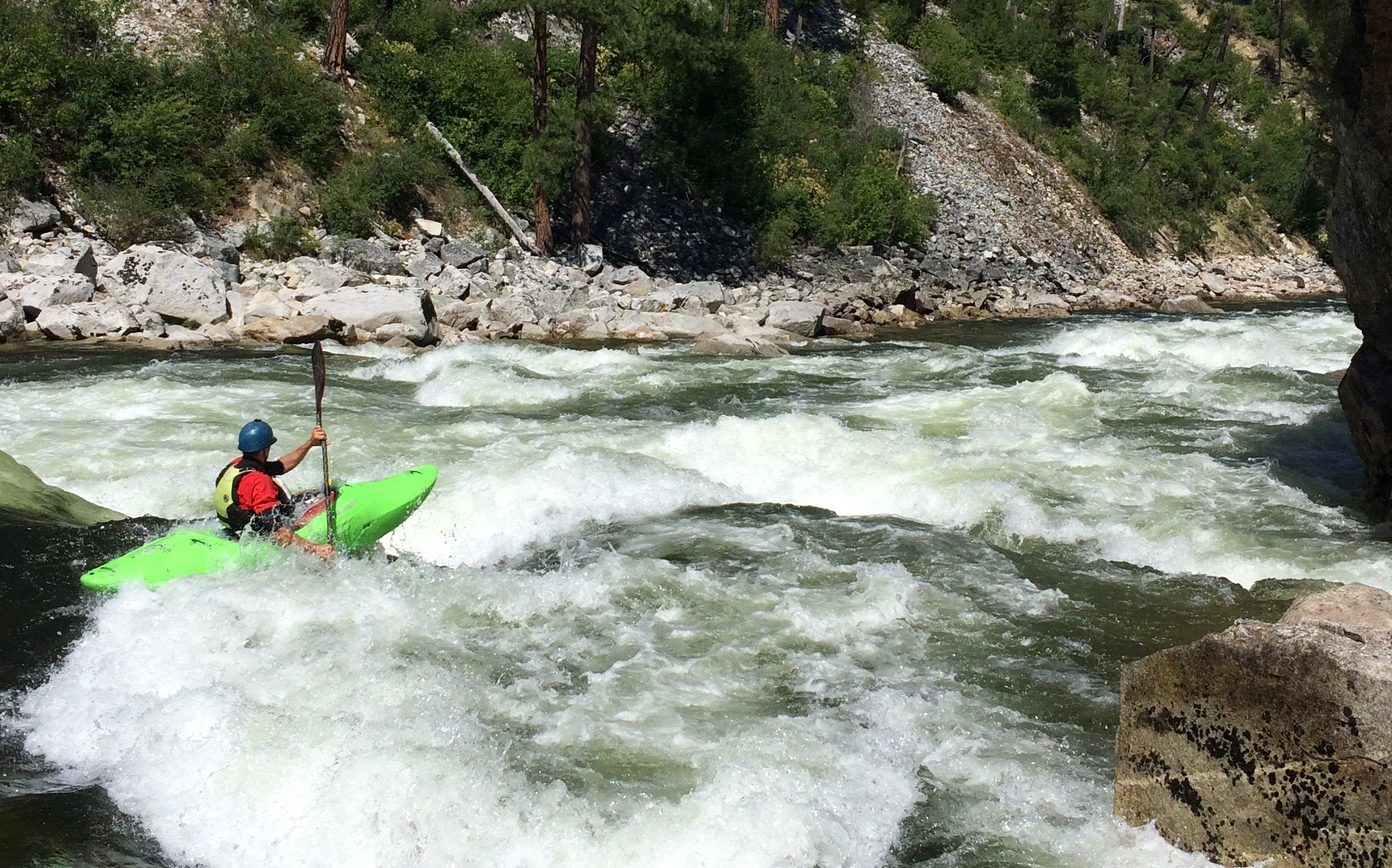 """""""The South Fork Salmon is a trip of a lifetime—that I plan to do every year.""""   -Jon Crain, Poulsba, Wash."""