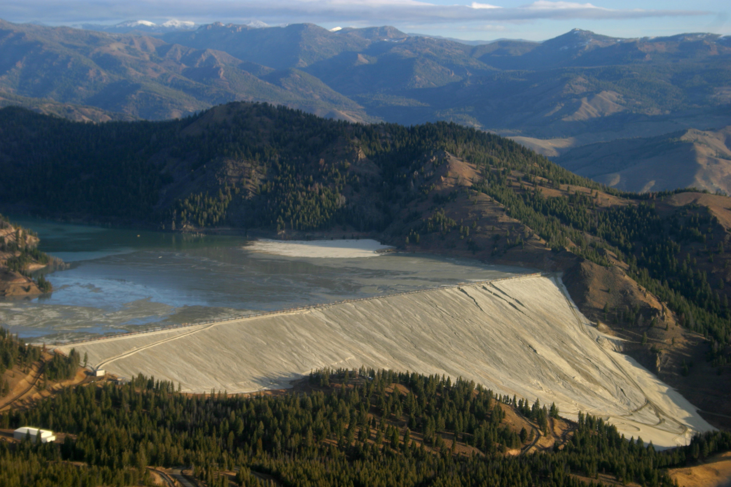 The Thompason Creek Mine's tailings dam is an indication of the kind of environmental damage open-pit mining can inflict.
