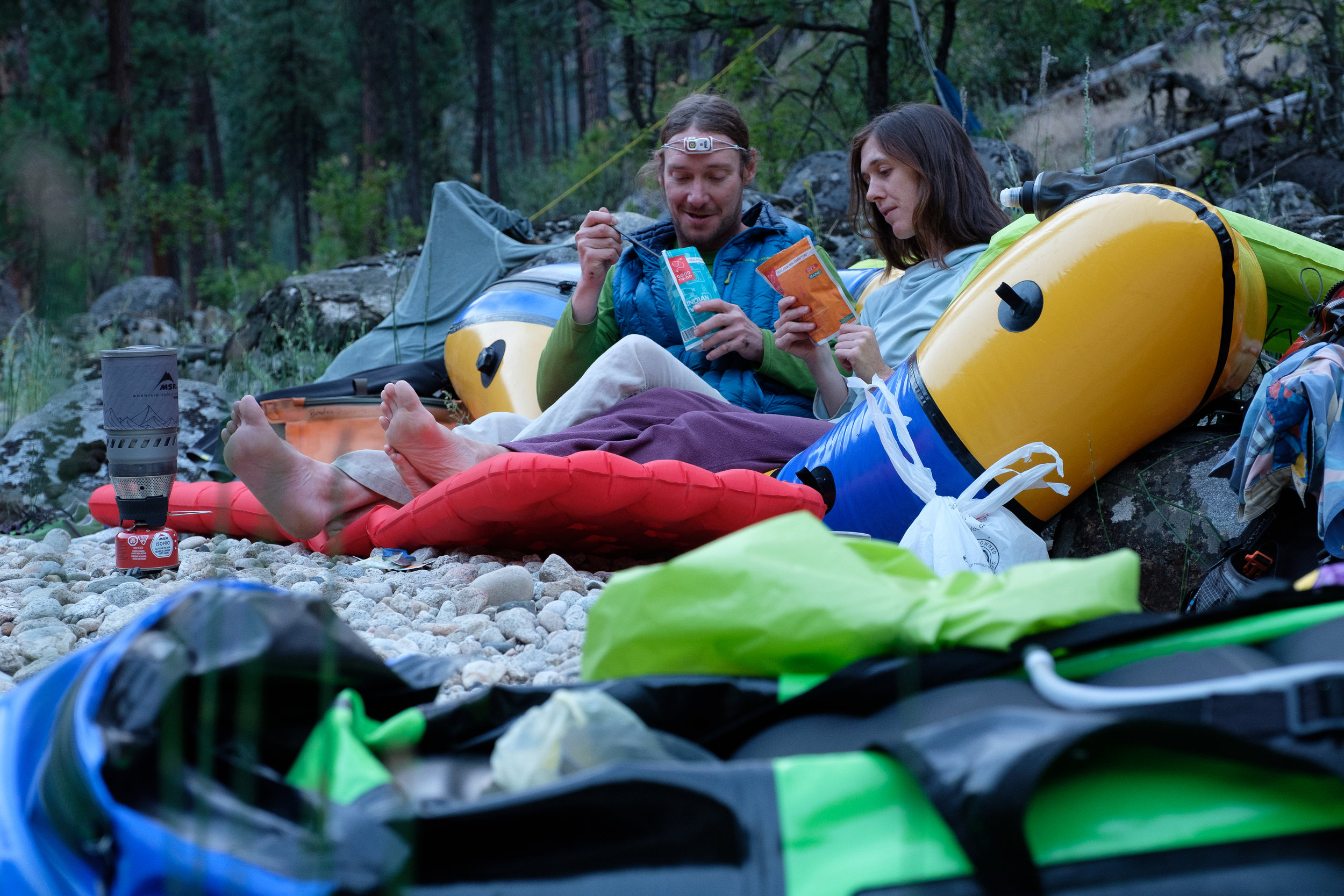"""- """"If I had to describe Idaho's South Fork of the Salmon in one phrase, I'd call it the rowdy cousin to its more famous and beloved drainage to the east, the Middle Fork.""""- Claire Cripps and Braden Gunem, Ketchum, Idaho"""