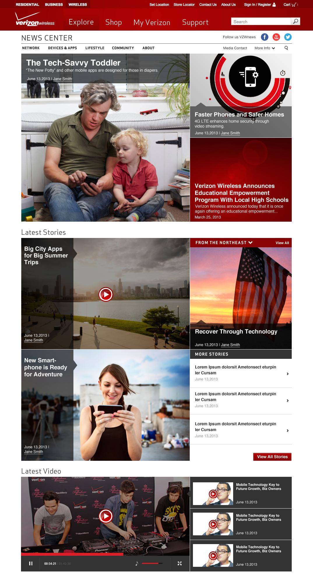 Newsroom Mockup - Desktop Homepage