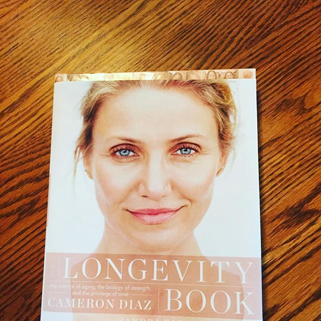 Best gift we got @michelle72864 for #mothersday? #longevitybook by the STUNNING @camerondiaz! Can't wait to read it after she does! @helena.kathleen & I ❤️ you unconditionally mom! #happymothersday