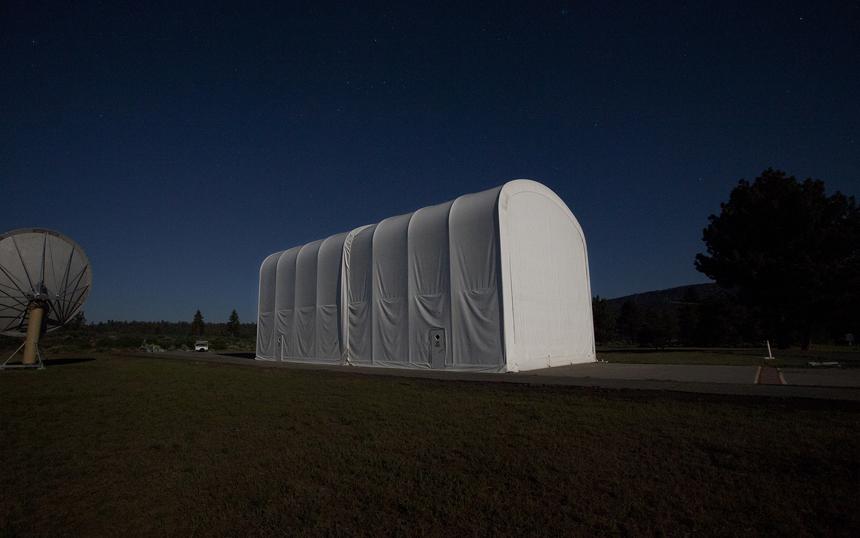 SETI S9. ATA Assembly Tent at Hat Creek under Full Moon.jpg