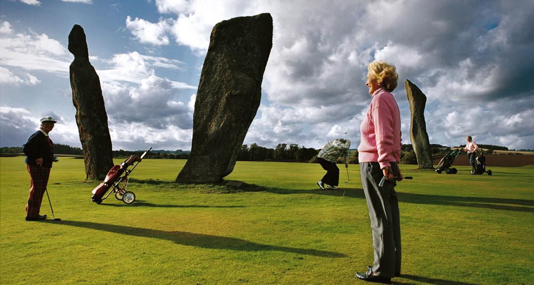 KN 7. LOST BALLS - Lady Golfers + Standing Stones. Lundin Links, Scotland. Full MR..jpg
