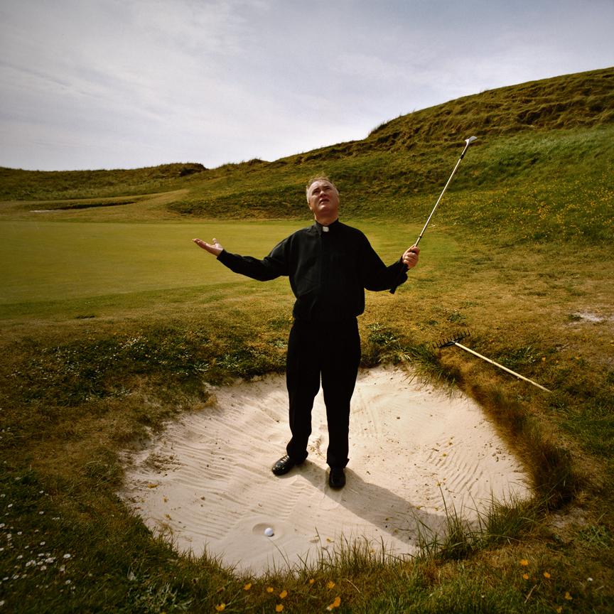 KN 9. LOST BALLS - Priest in Bunker. Carne, Ireland. Full MR + PR.jpg