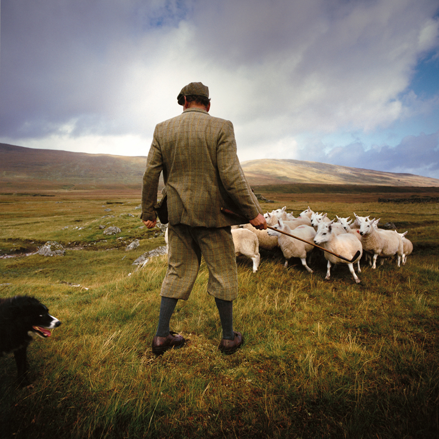 KN 13. LOST BALLS - Highland Shepherd with Old Golf Club. Scotland. Full MR.jpg