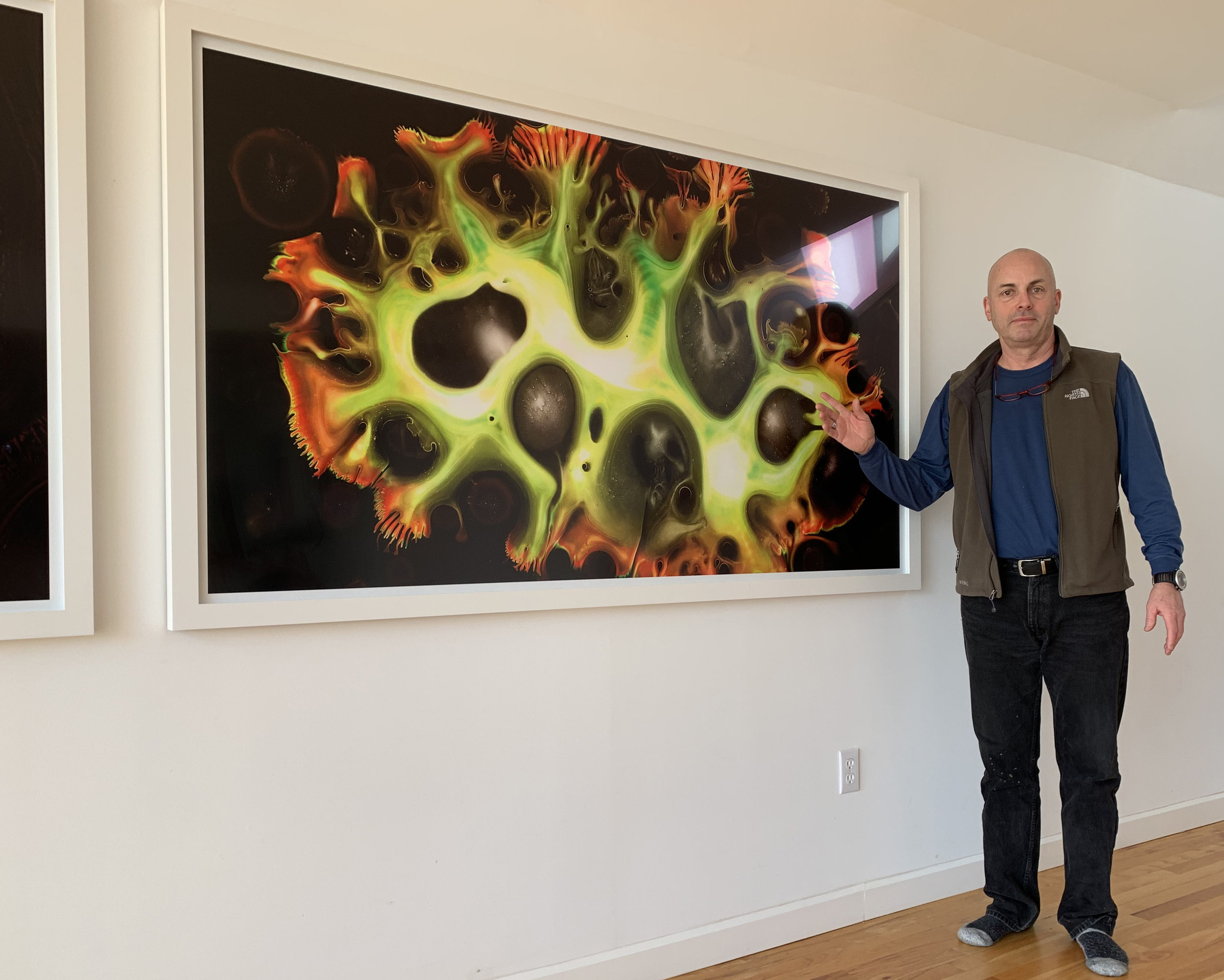 "2. CARBON color, unique. Center for Photography at Woodstock (2013.) 47""x86"" framed $6500"