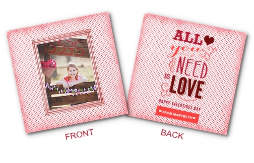 3x3 double-sided Valentines Card