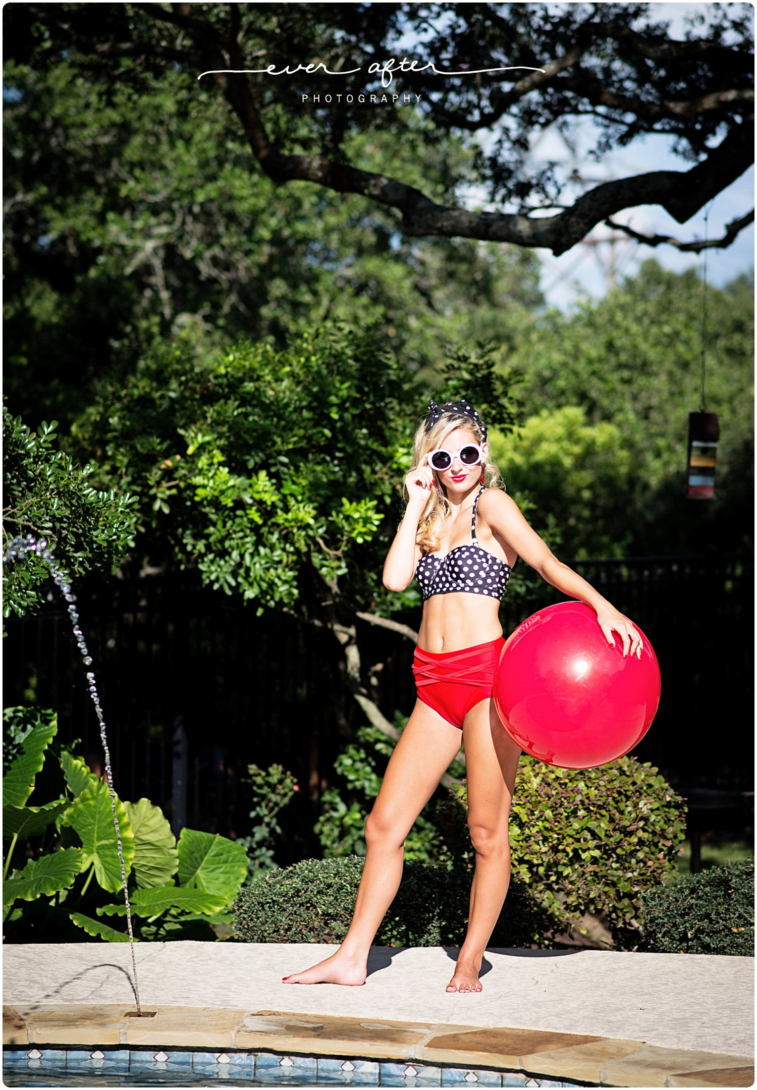 Ever After Photography | san antonio senior portraits, san antonio senior pictures, senior pics, best senior portraits, everafter.photography, leah godfredson, styled session, 50's shoot, poolside,ever after senior model team, class of 2017