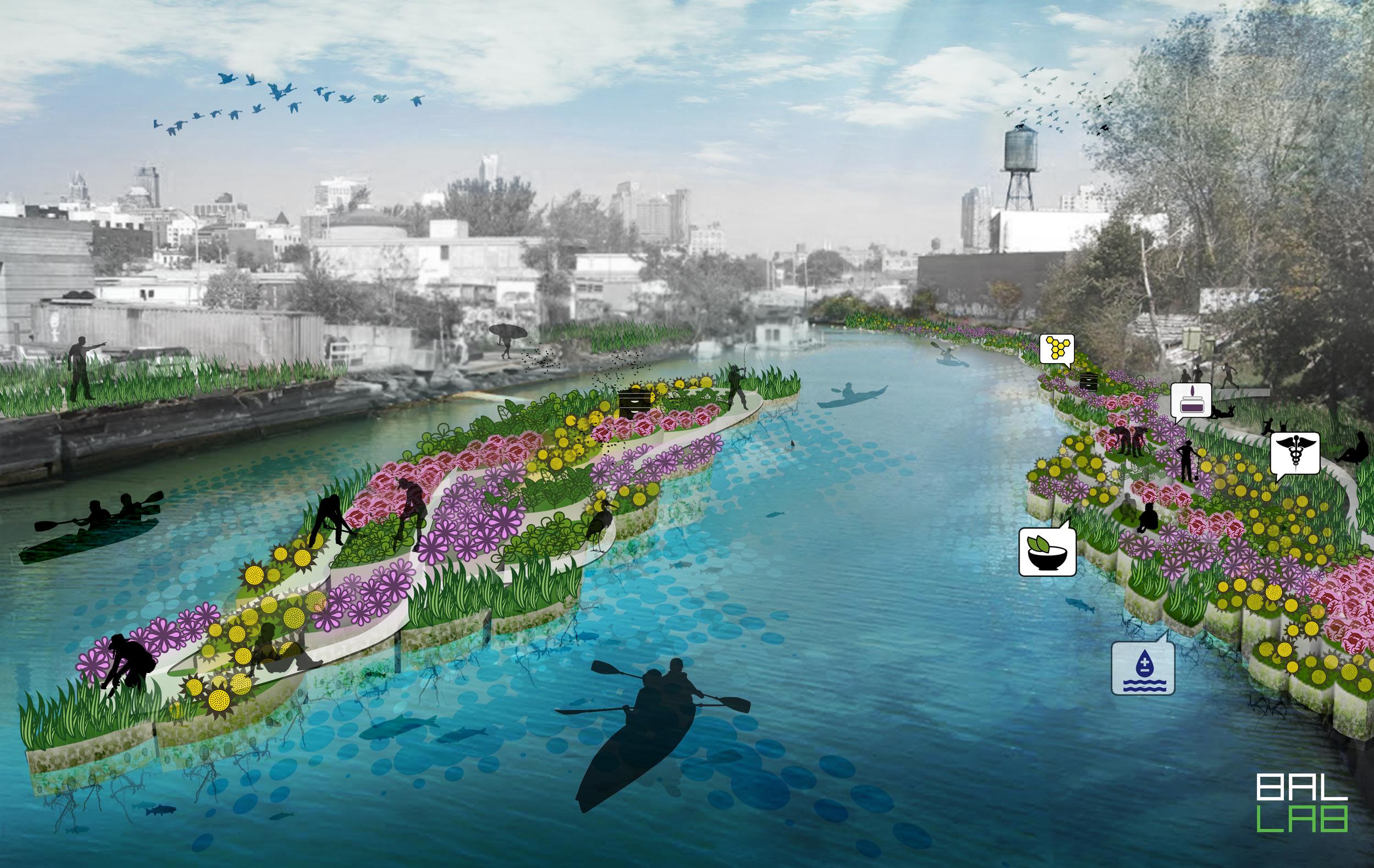 Multi-functional Green Infrastructure,Gowanus Canal,Brooklyn, 2015