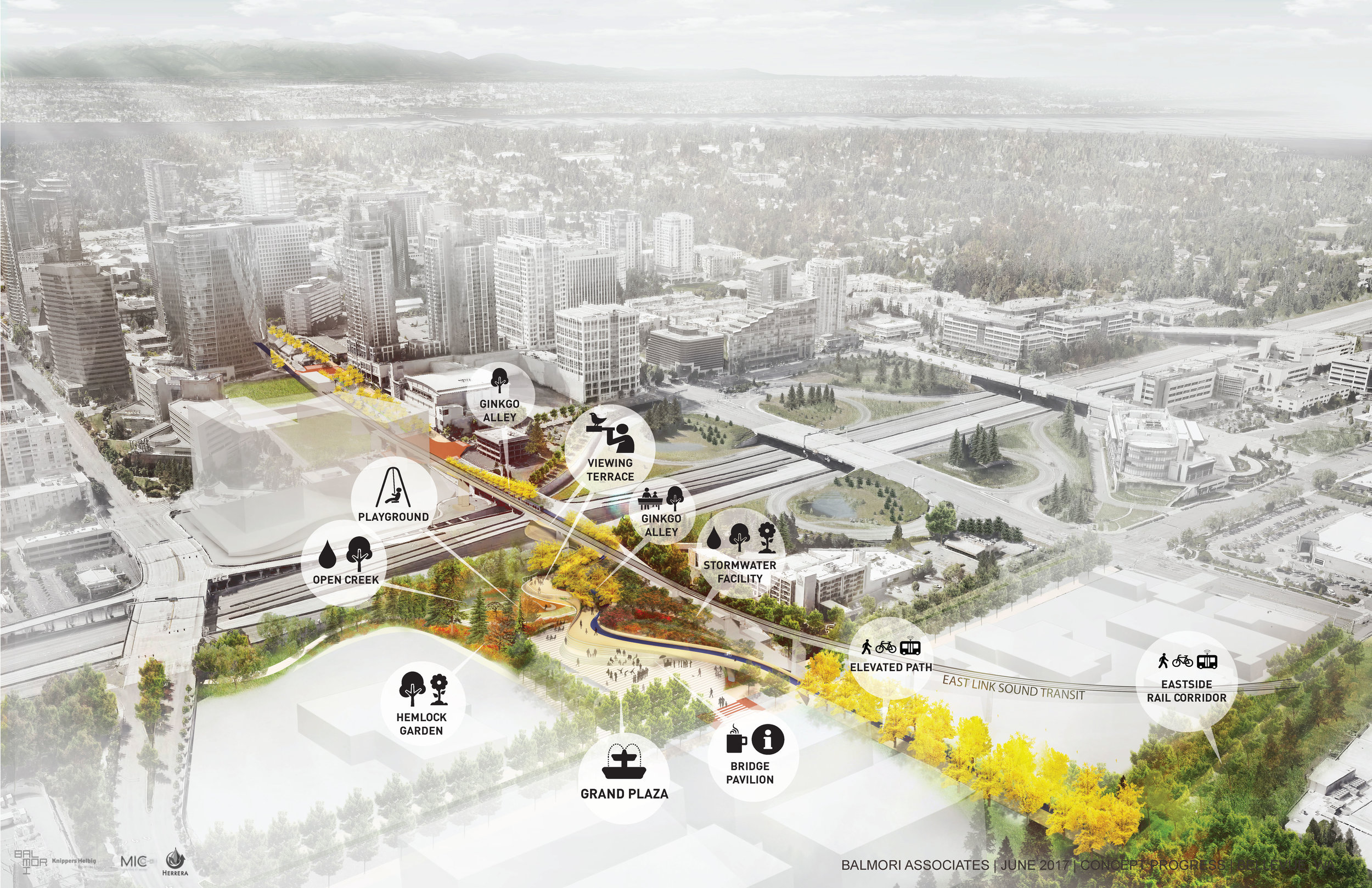 - Checkout the I-405 crossing alternatives we developed with Knippers Helbig in Bellevue, WA.  Which one will it be… Sculptural Bridge, Linear Bridge, Or a Lid Park?Pick the one you prefer athttp://www.bellevuegrandconnection.com/interstate-405-crossingMore about the project...