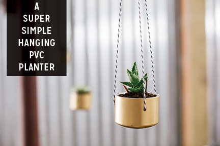 Paper Craft Pantry DIY PVC Hanging Planters