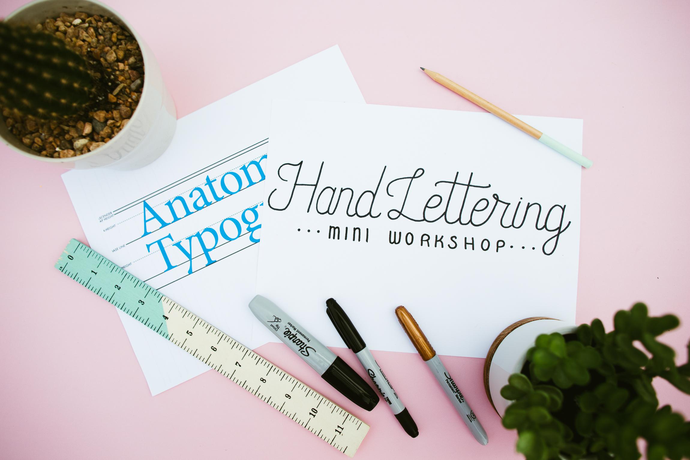East Austin Studio Tour Hand Lettering Mini Workshop