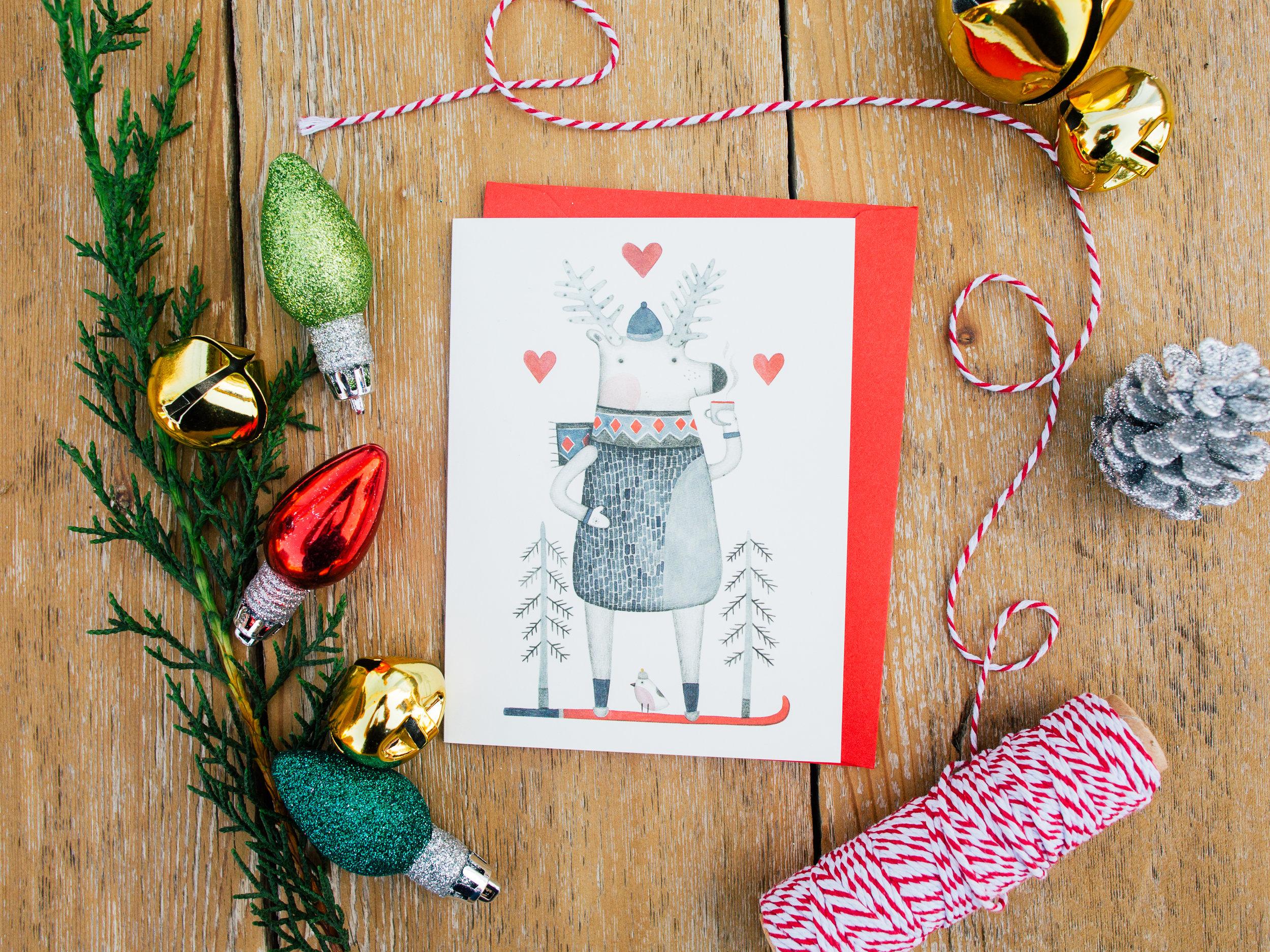 Merry Christmas Happy Holidays Card