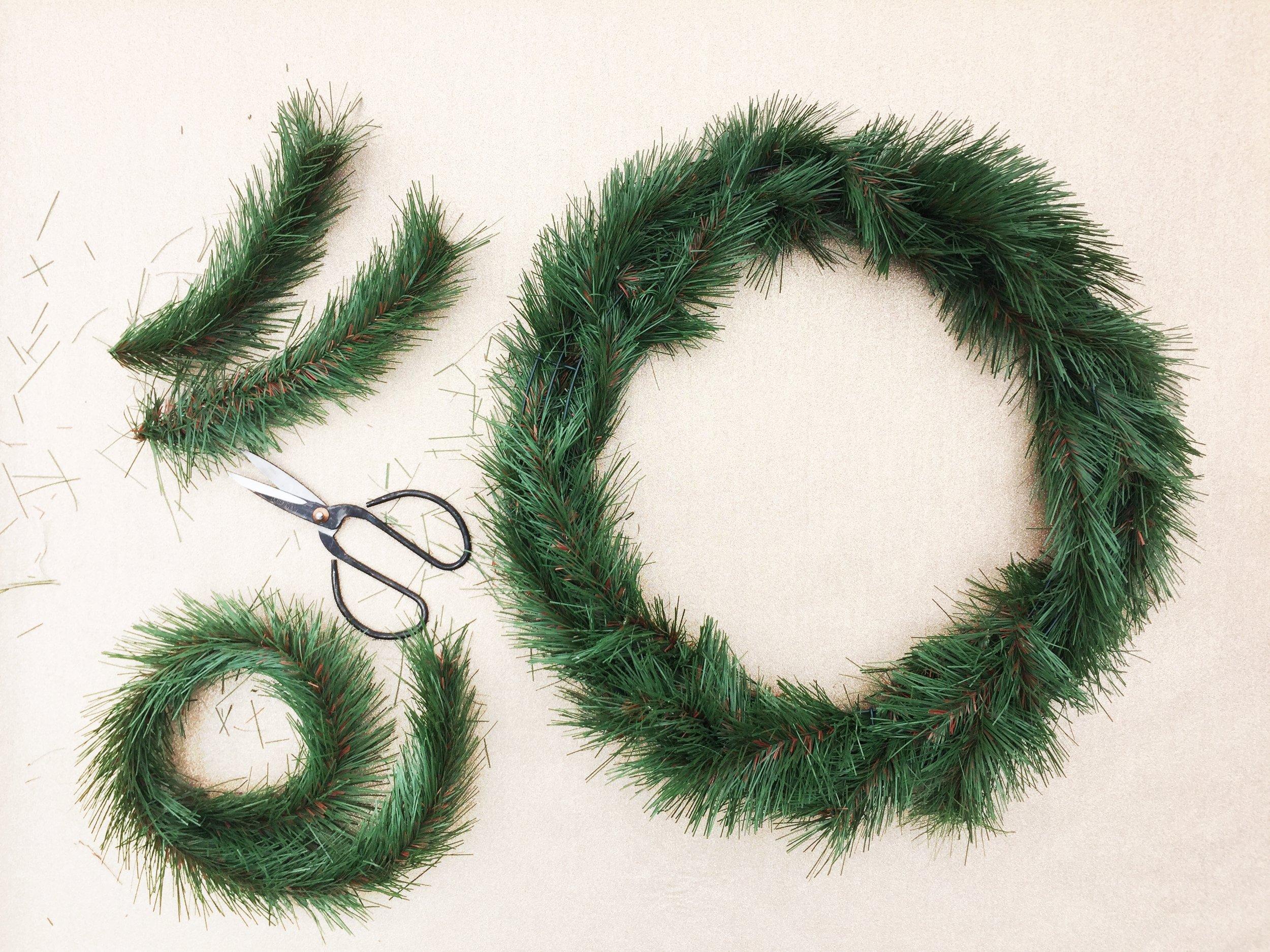 Paper Craft Pantry Blog DIY Evergreen Wreath