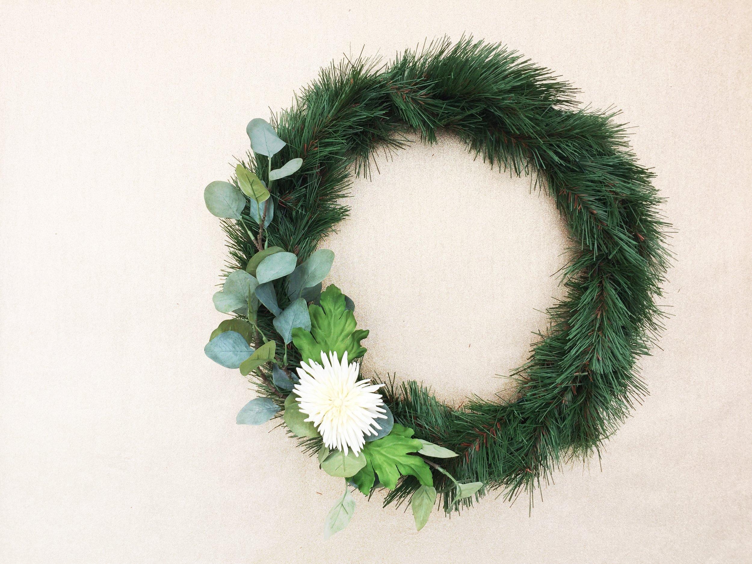 Paper Craft Pantry Blog DIY Seasonal Wreath