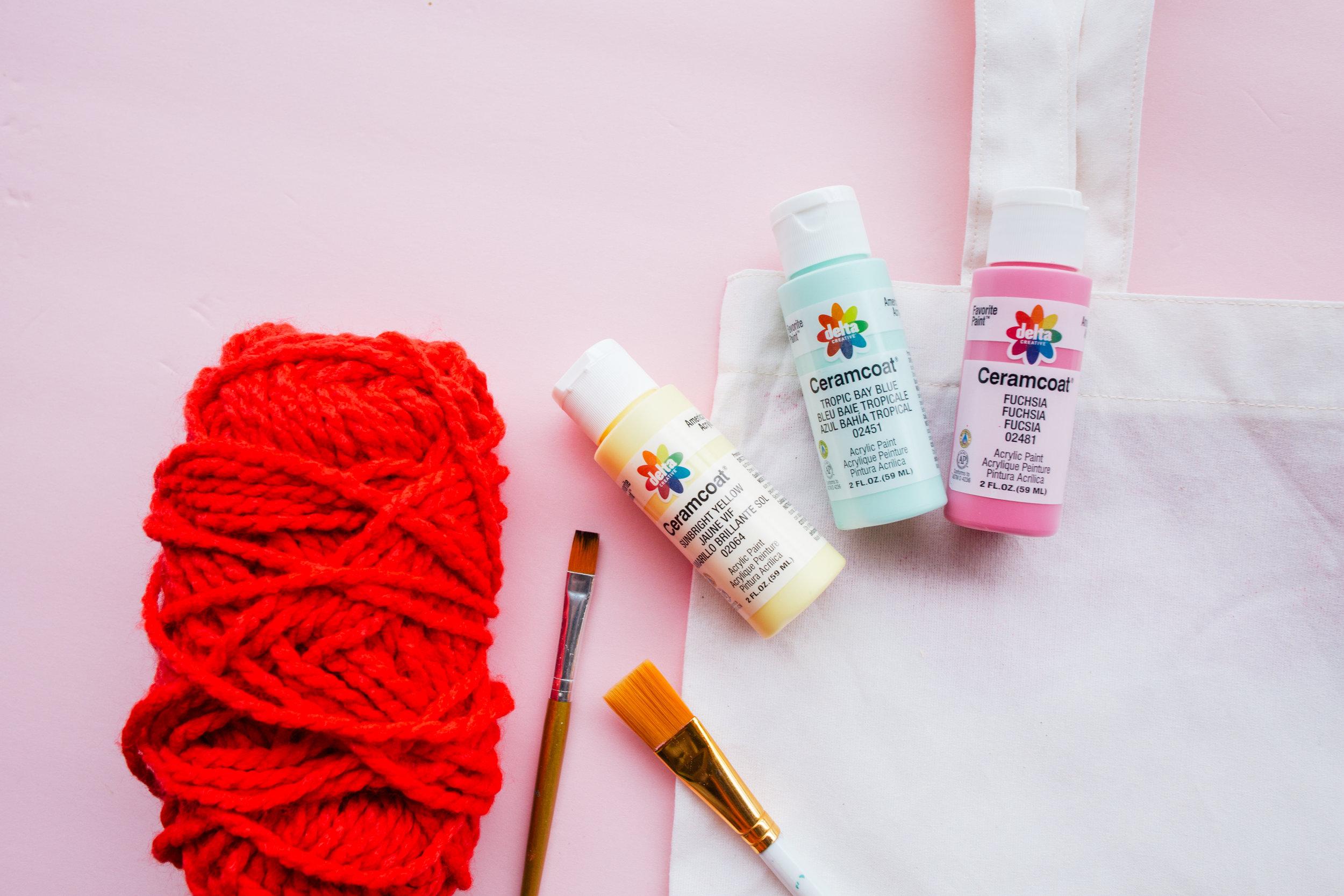 Paper Craft Pantry Blog DIY Painted Tote Bag