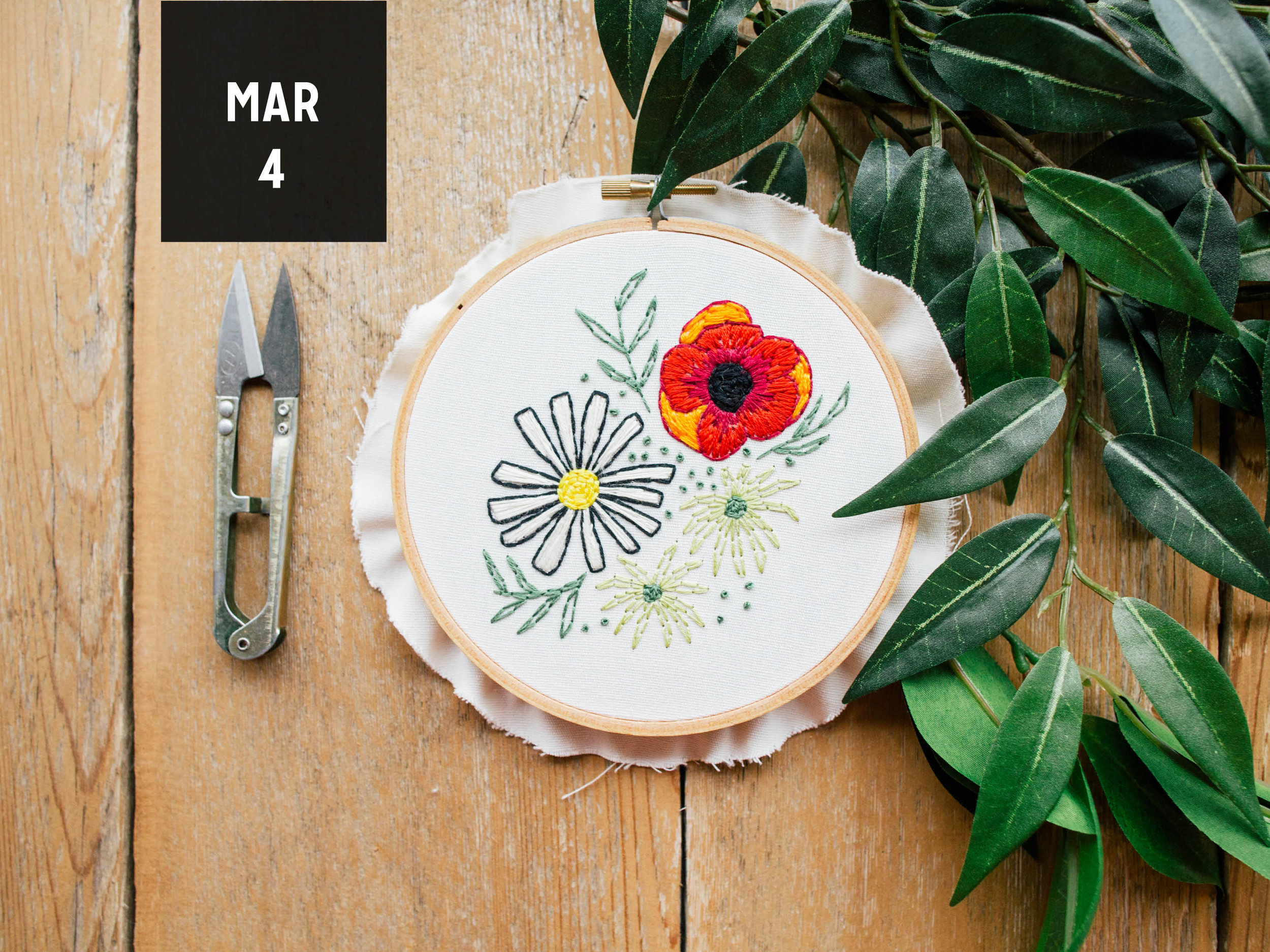 Paper Craft Pantry Hand Embroidery Floral Bouquets Workshop with Allie Biddle