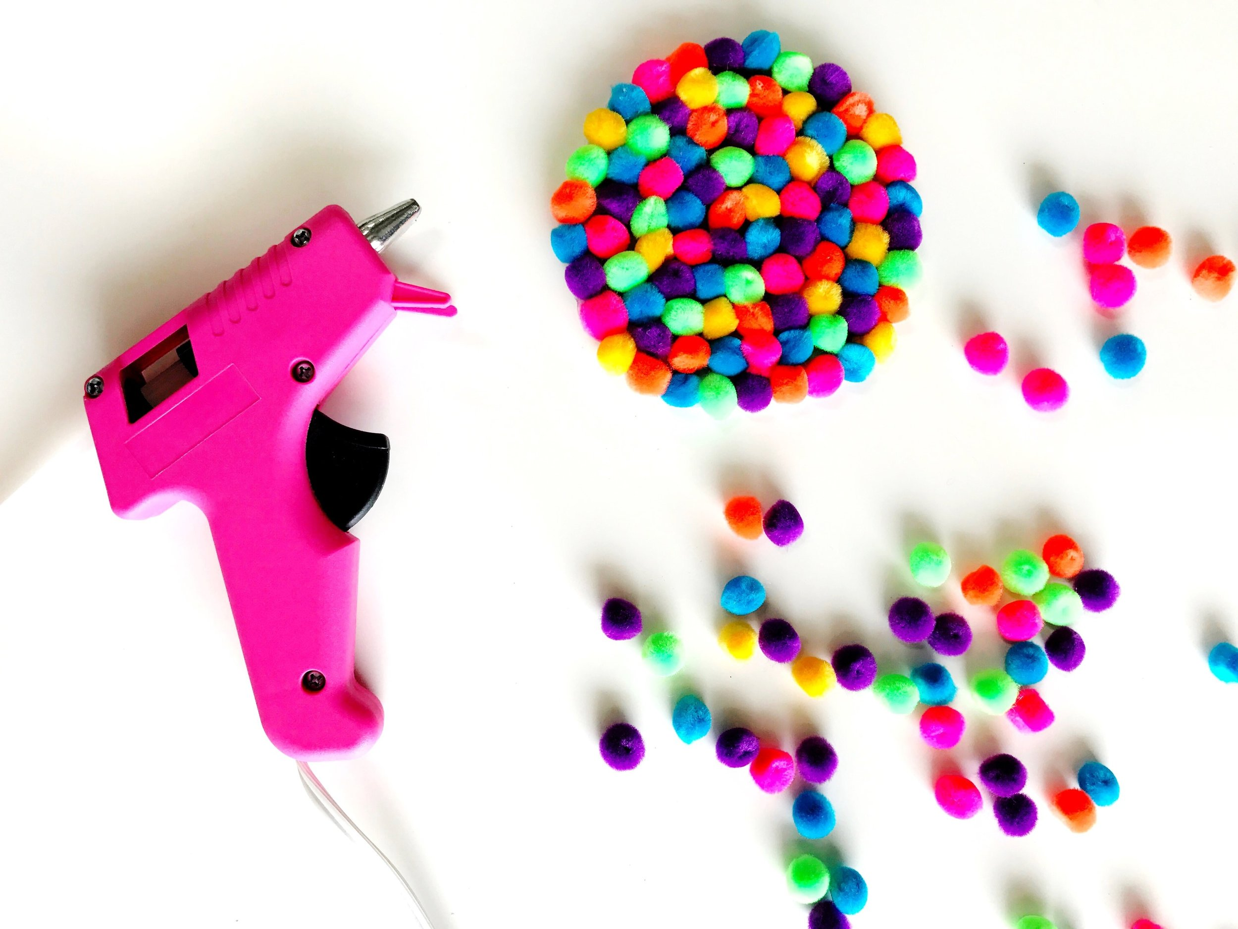 Paper Craft Pantry DIY Austin Blog Fiesta Party Pom Pom Coasters