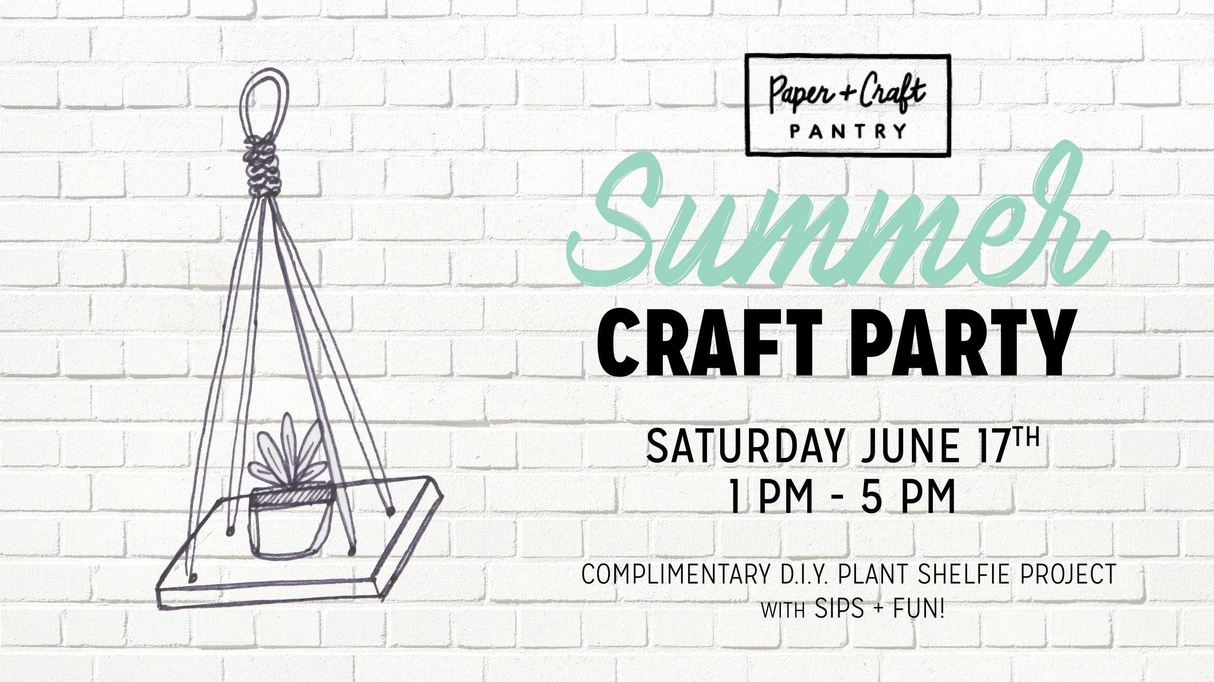 Join us for this Free D.I.Y. Craft Party and Summer Sale in Austin, Texas