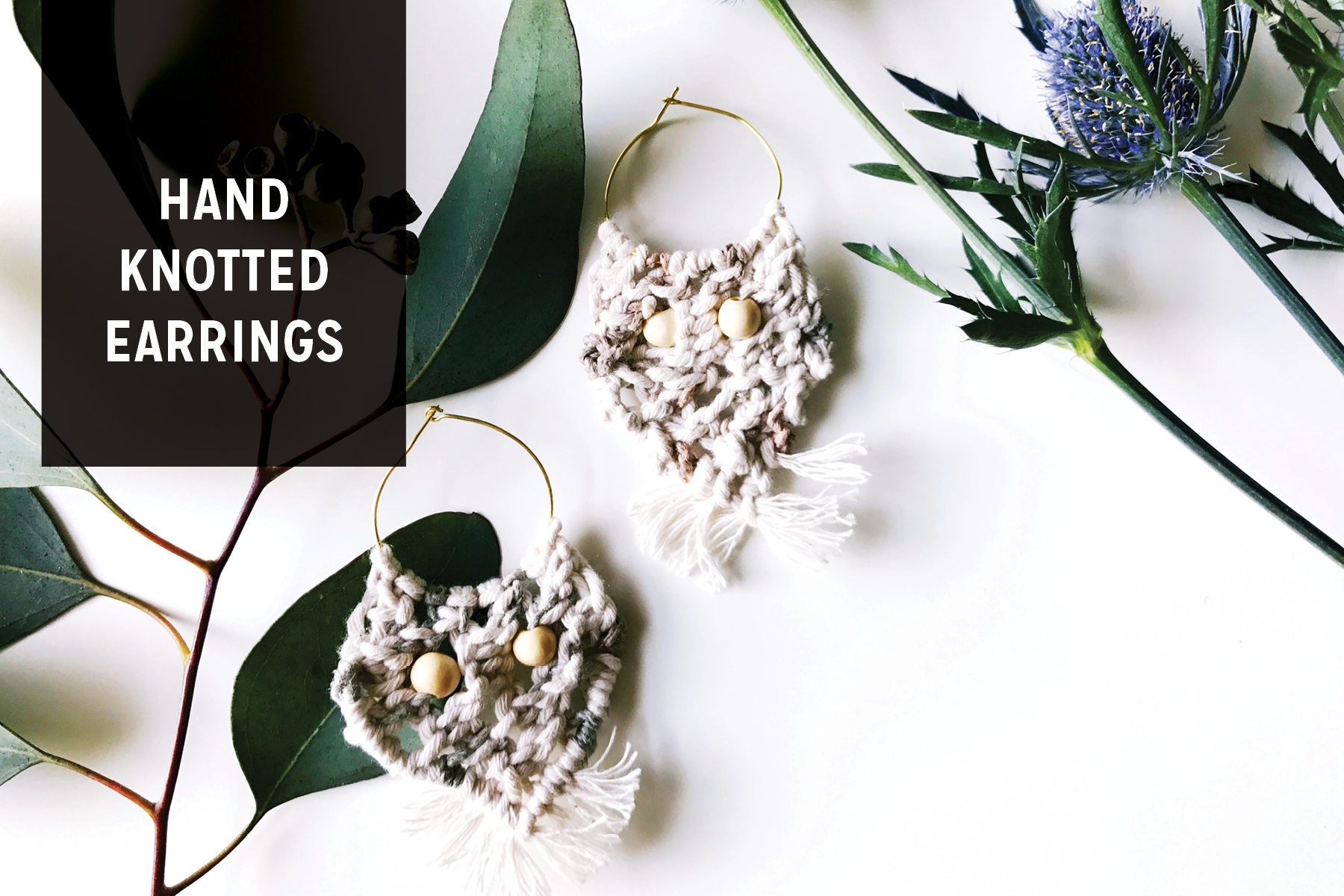 Free Pattern for D.I.Y. Hand Knotted Tassel Macrame Earrings